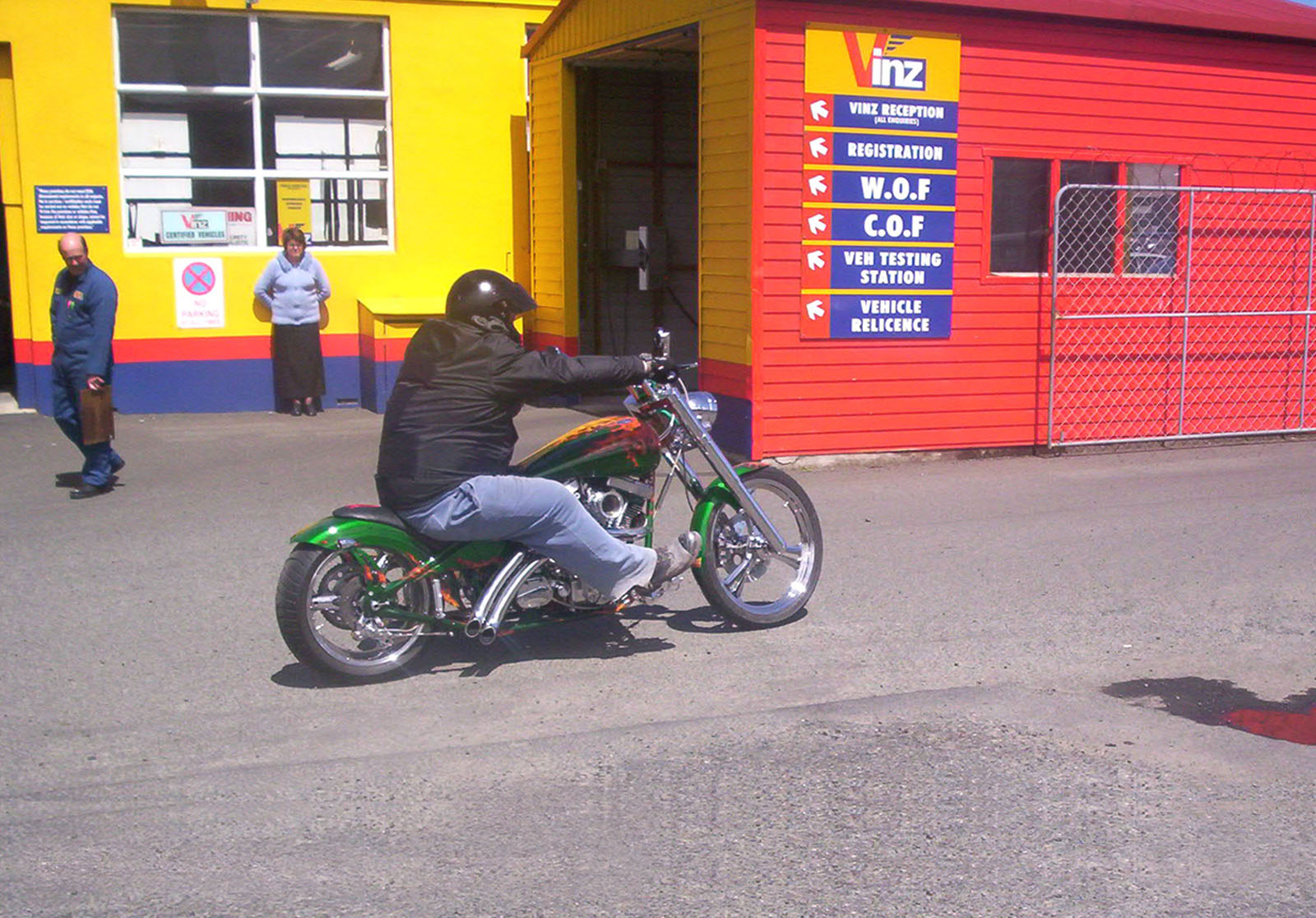 Green Hog, Bspo06, Davidson, Forks, Harley, HQ Photo
