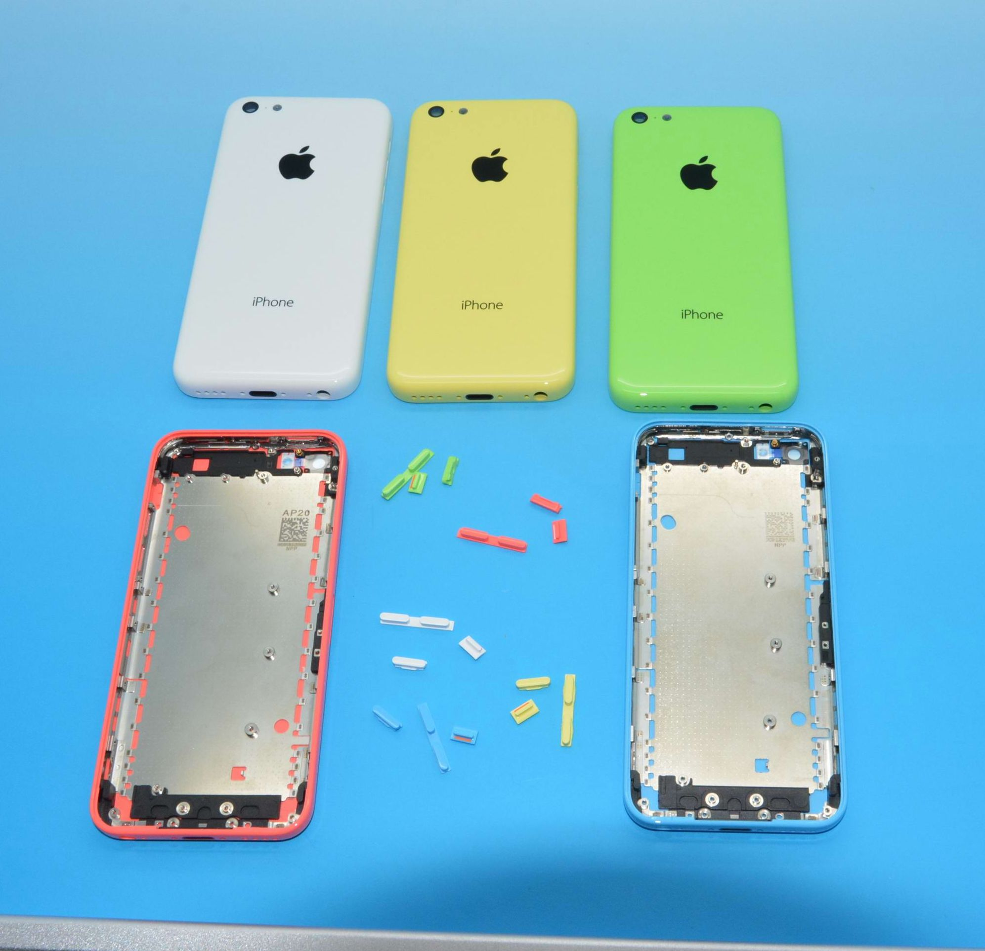 iPhone 5C Back Housing in Blue, Green, Red and Yellow