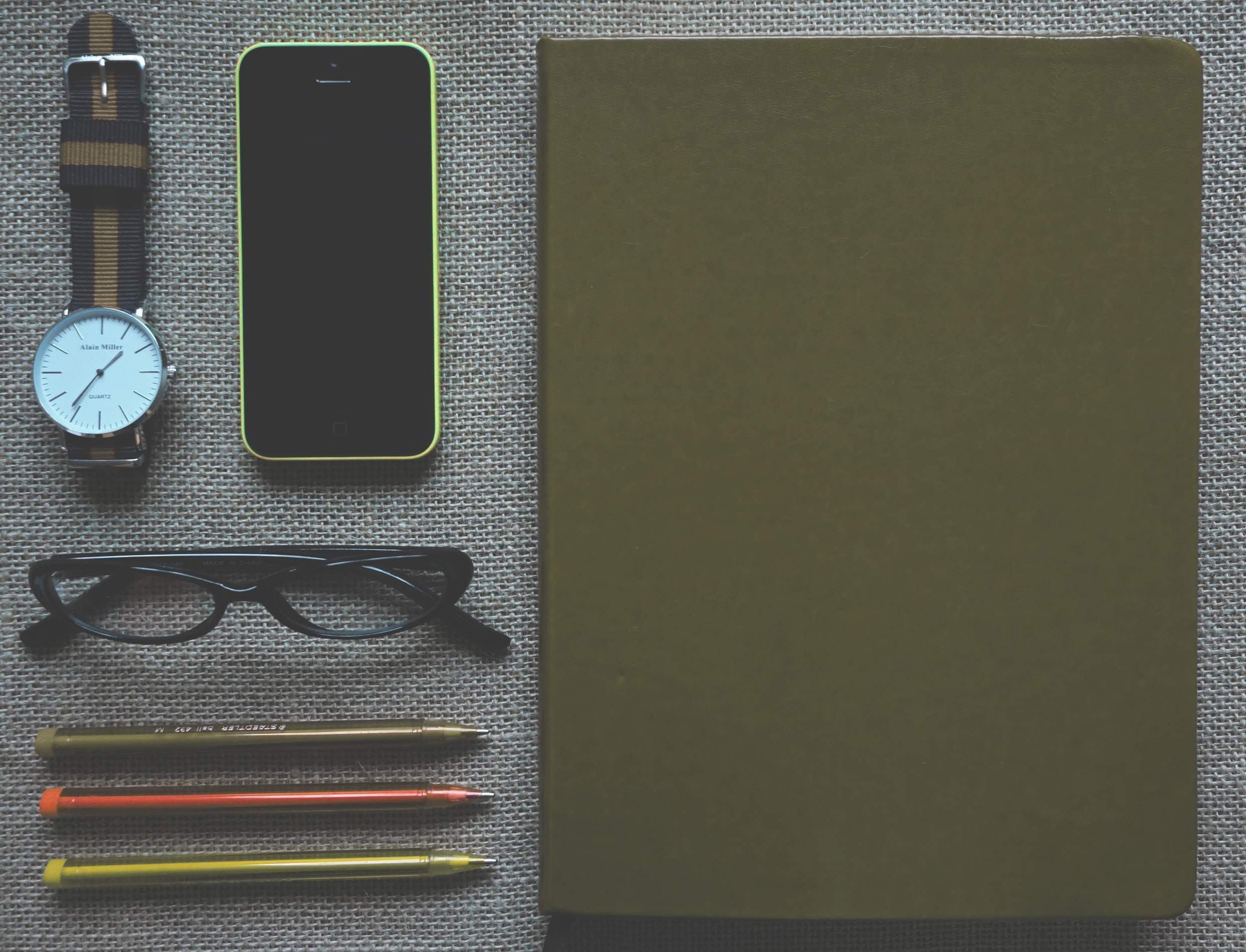 Green Iphone 5c Near Black Frame Eyeglasses, Art, Phone, Wrist watch, Watch, HQ Photo