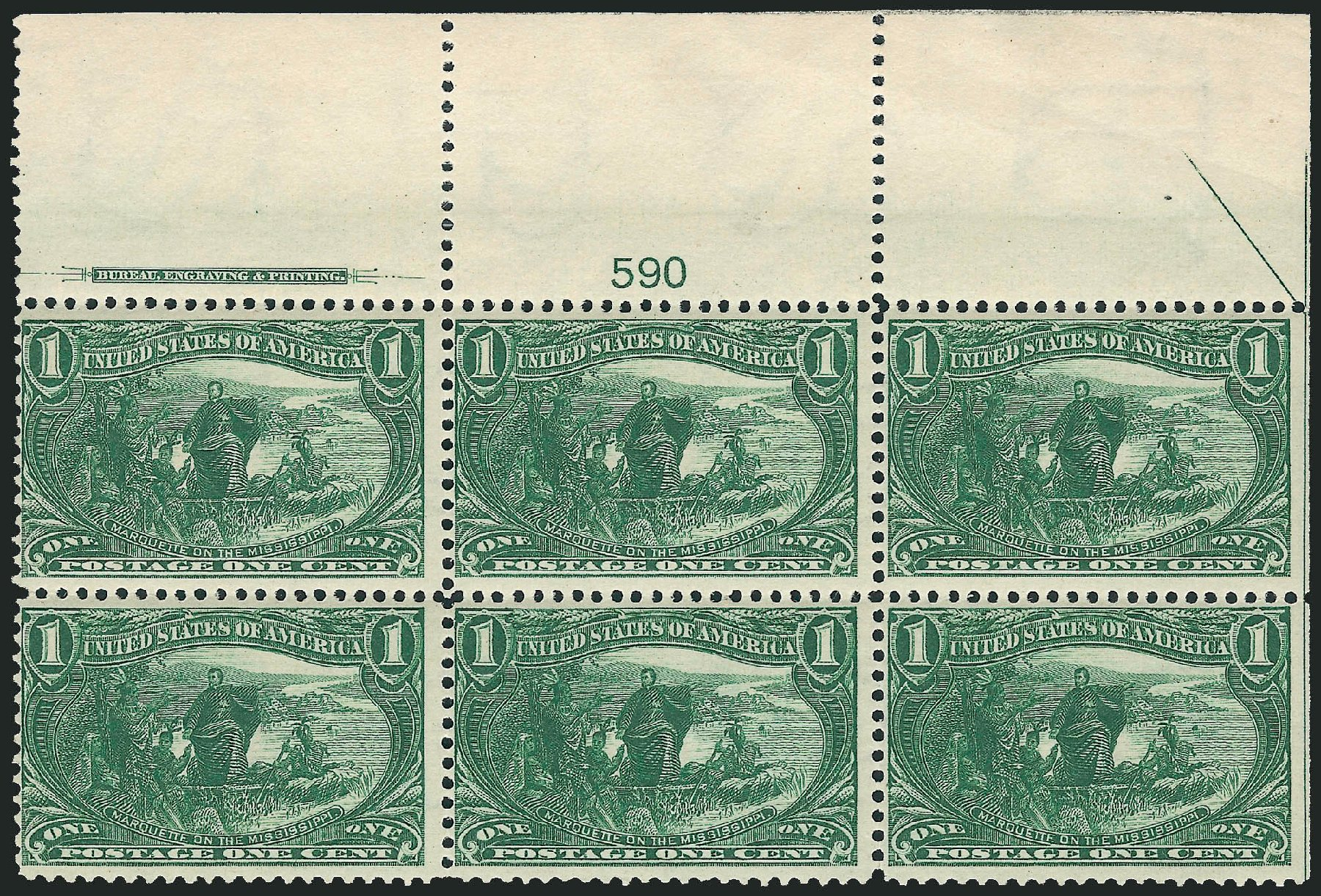 US Stamp Value Scott Catalogue #285 - 1c 1898 Trans Mississippi ...