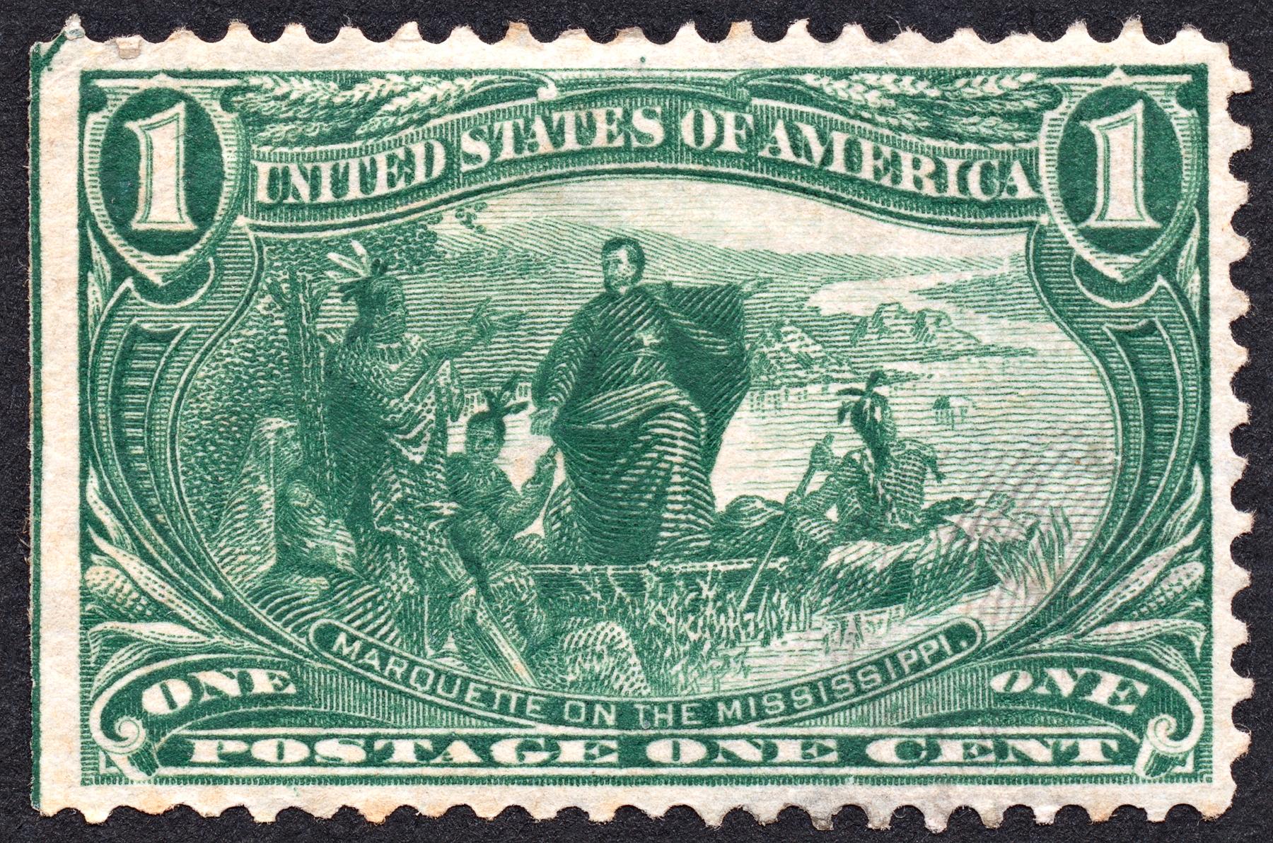 Green Marquette Stamp, 1, Postmark, Scrap, Retro, HQ Photo