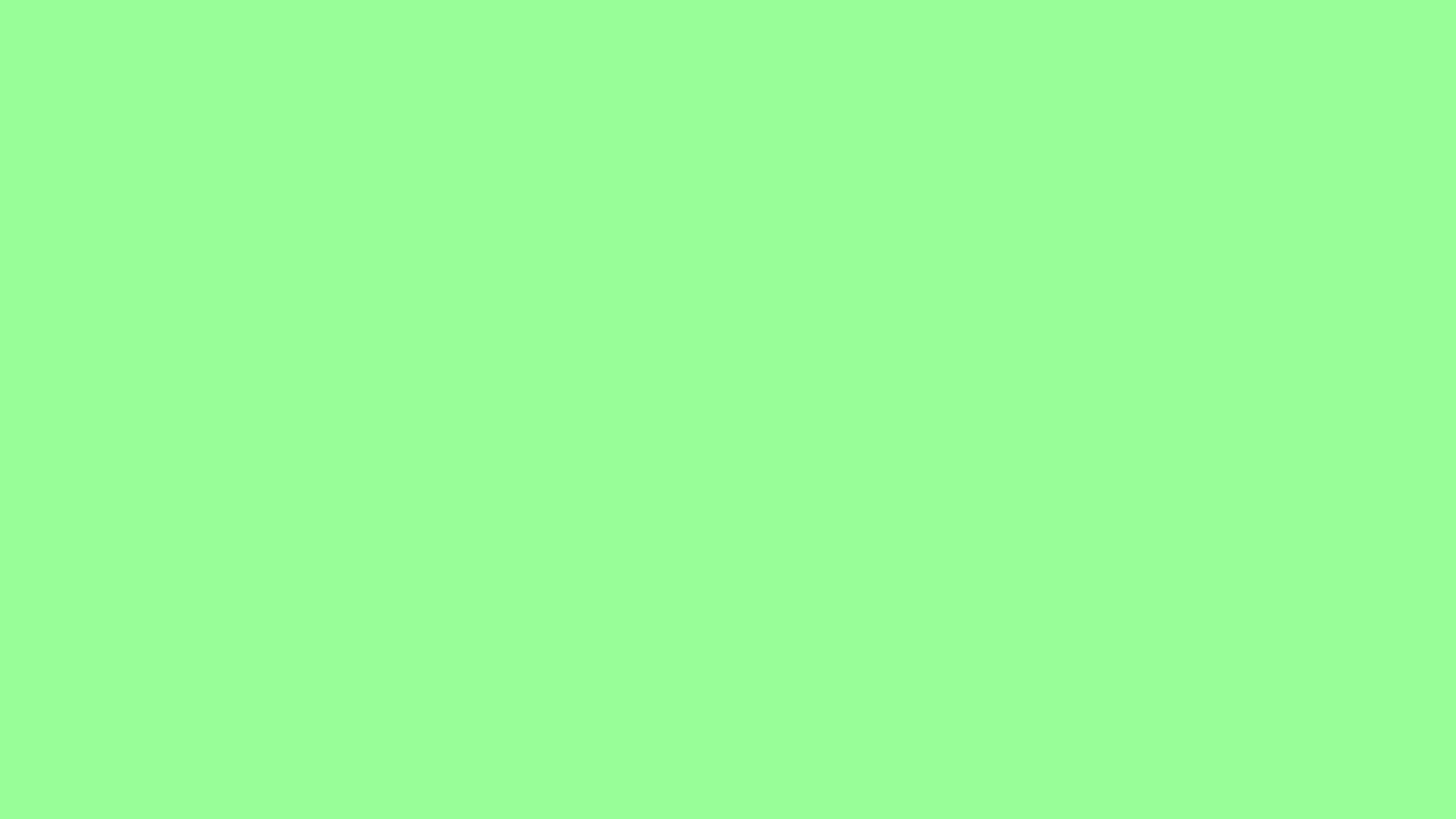 2560x1440 Mint Green Solid Color Background