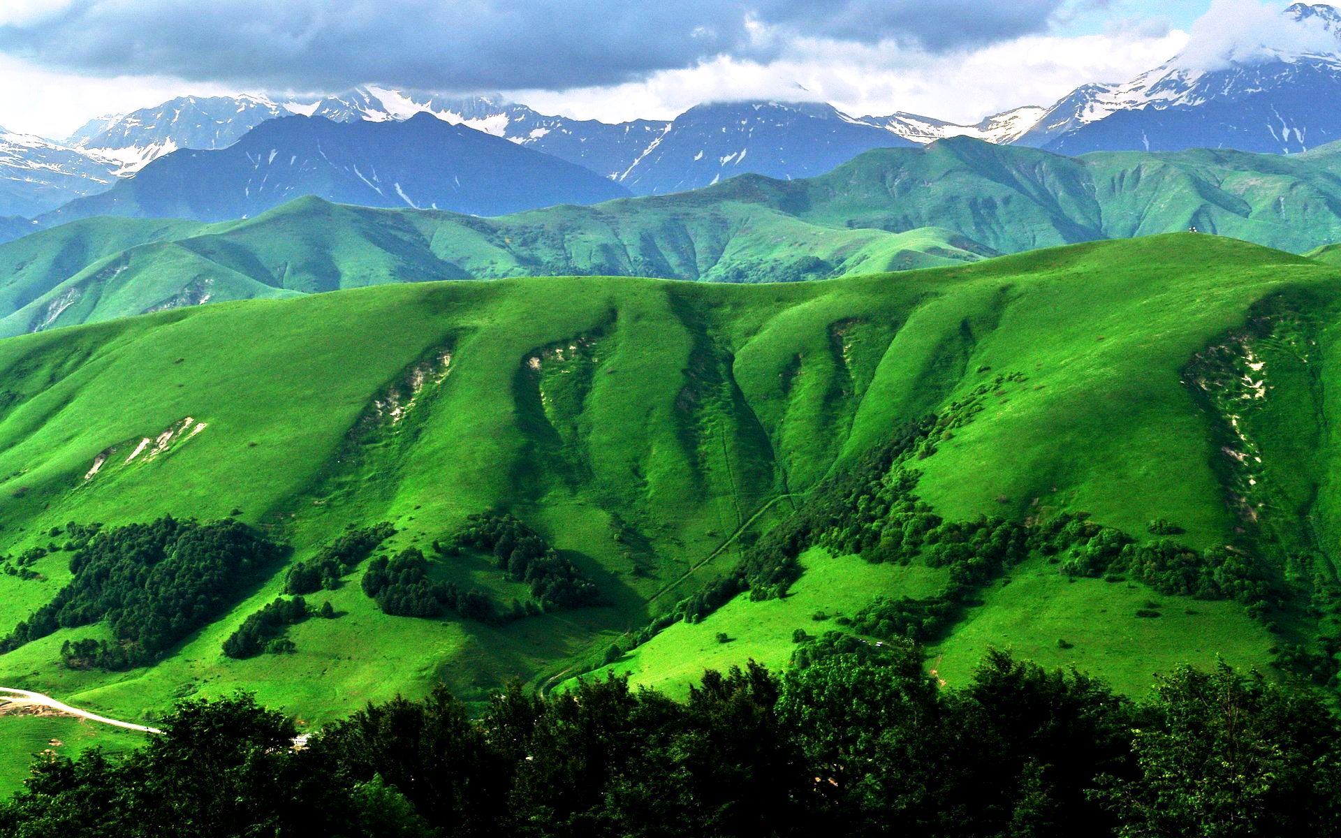 Photos For Backgrounds Full Hd Pc With Scenery Of Mountain Green ...