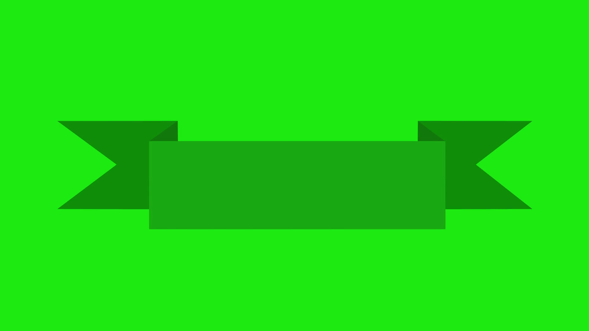 Animated Blue Ribbon Banner on green screen chroma key. Motion ...