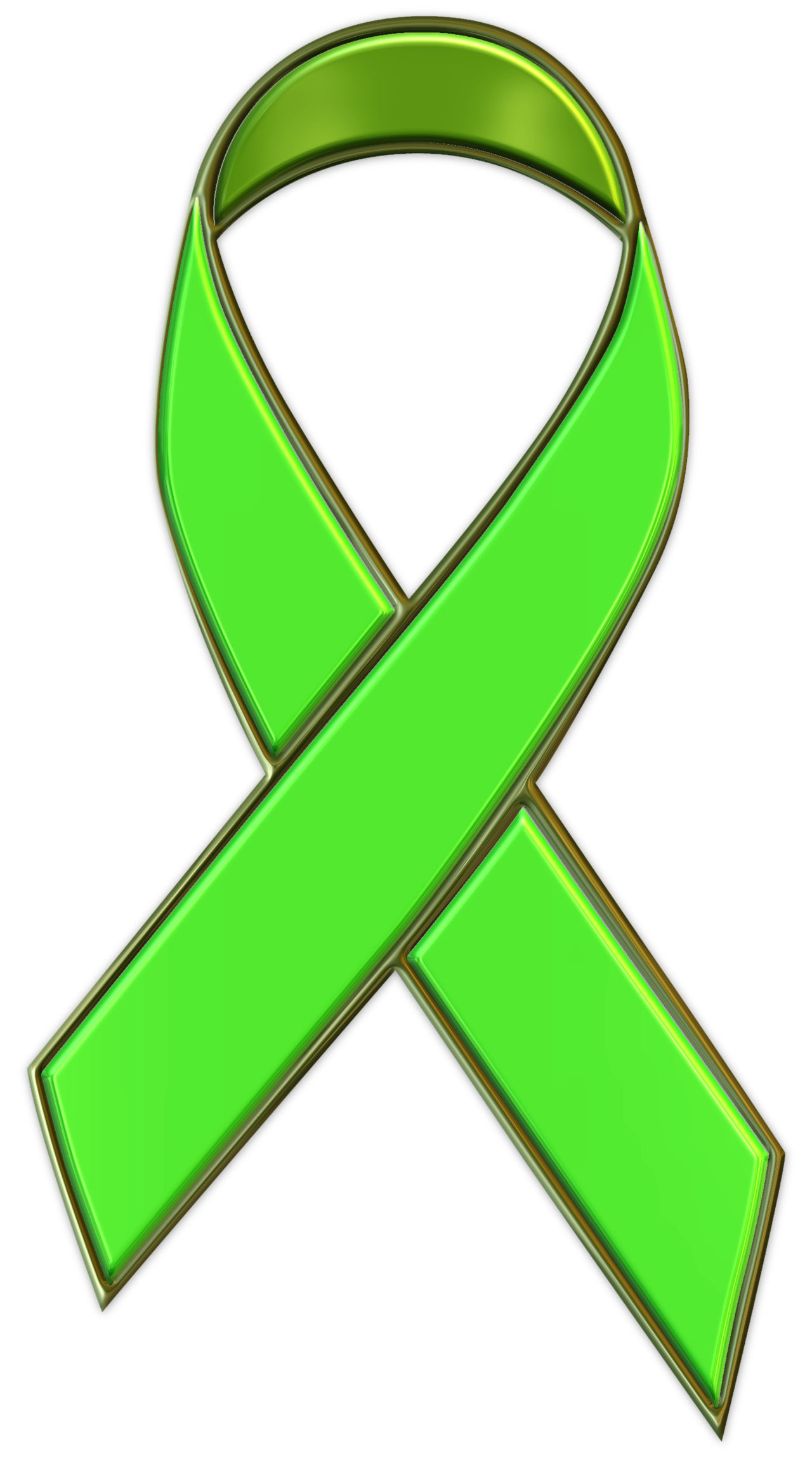 picture of lime green ribbon | to support mental health awareness ...