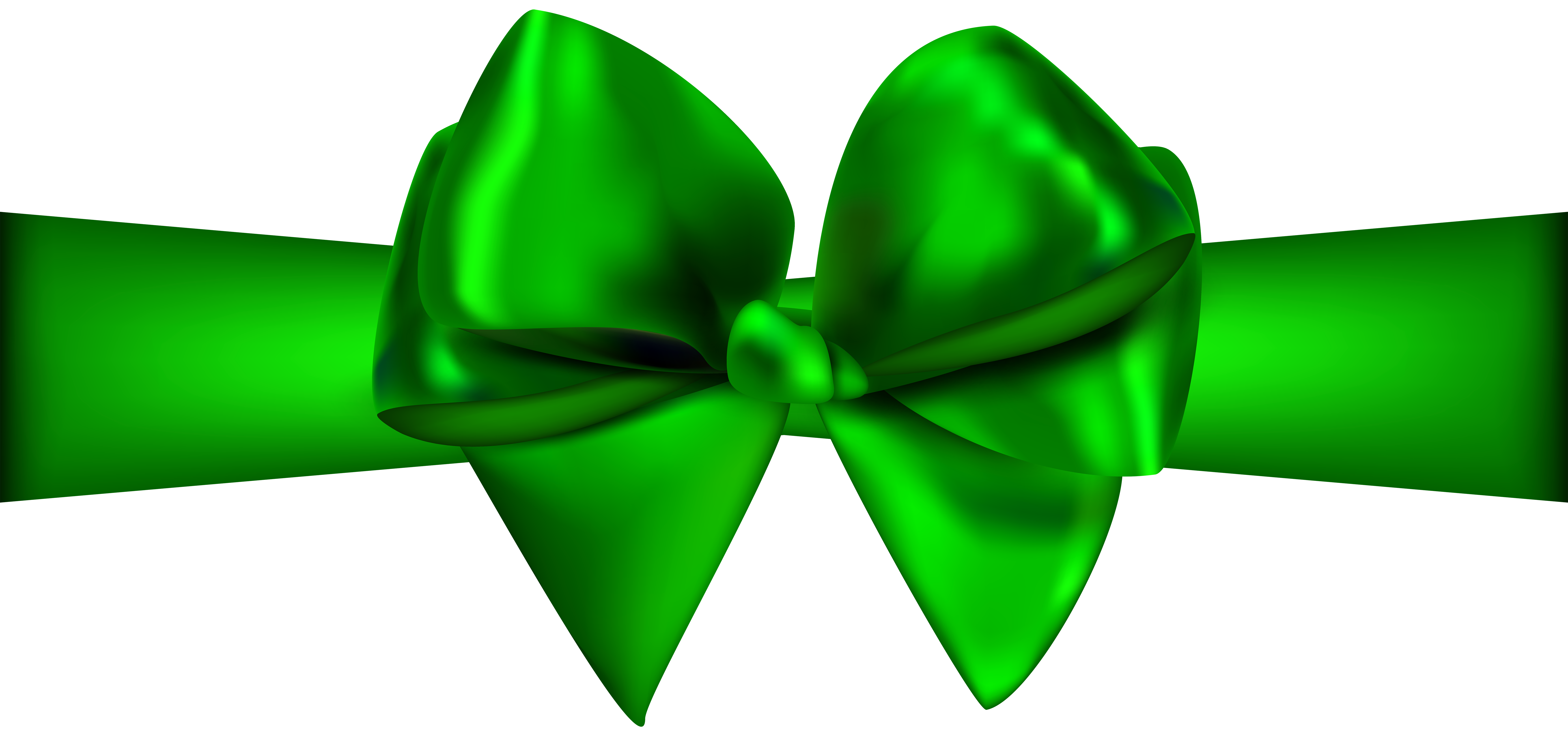 Green Ribbon with Bow PNG Clip Art - Best WEB Clipart