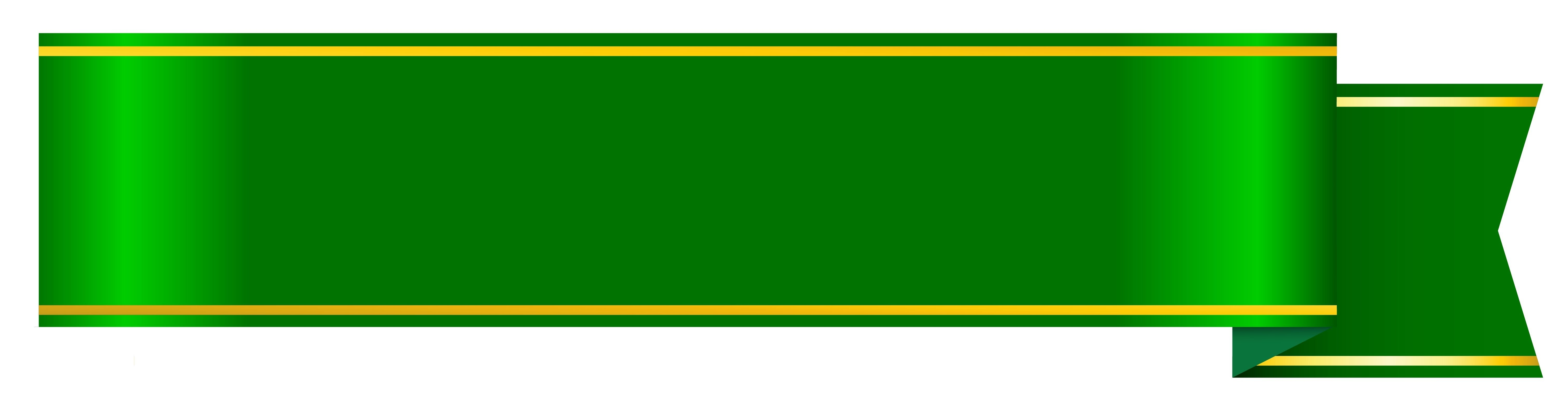 Green Ribbon Banner Clipart | Free Design Templates