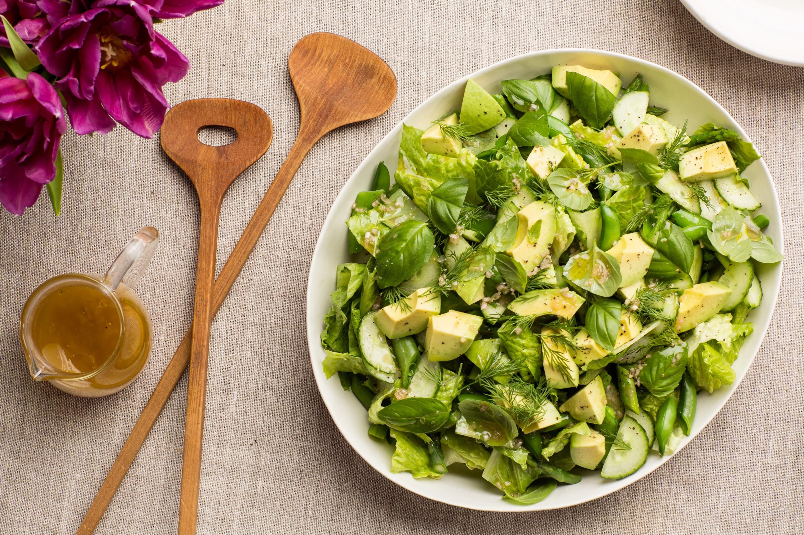All Green Salad with Citrus Vinaigrette recipe | Epicurious.com