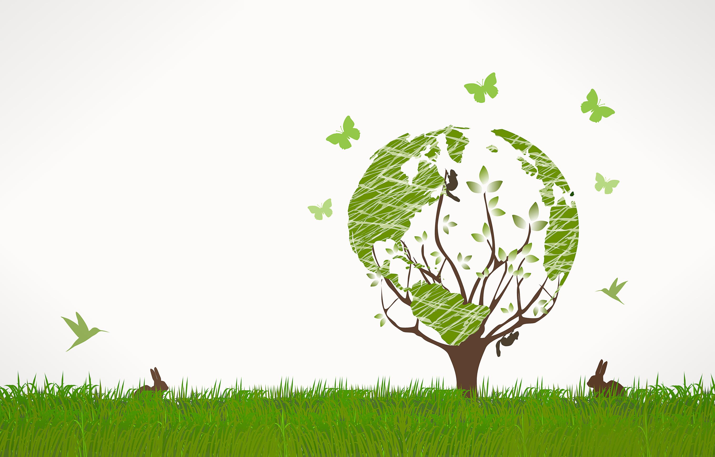 Green world concept - background photo