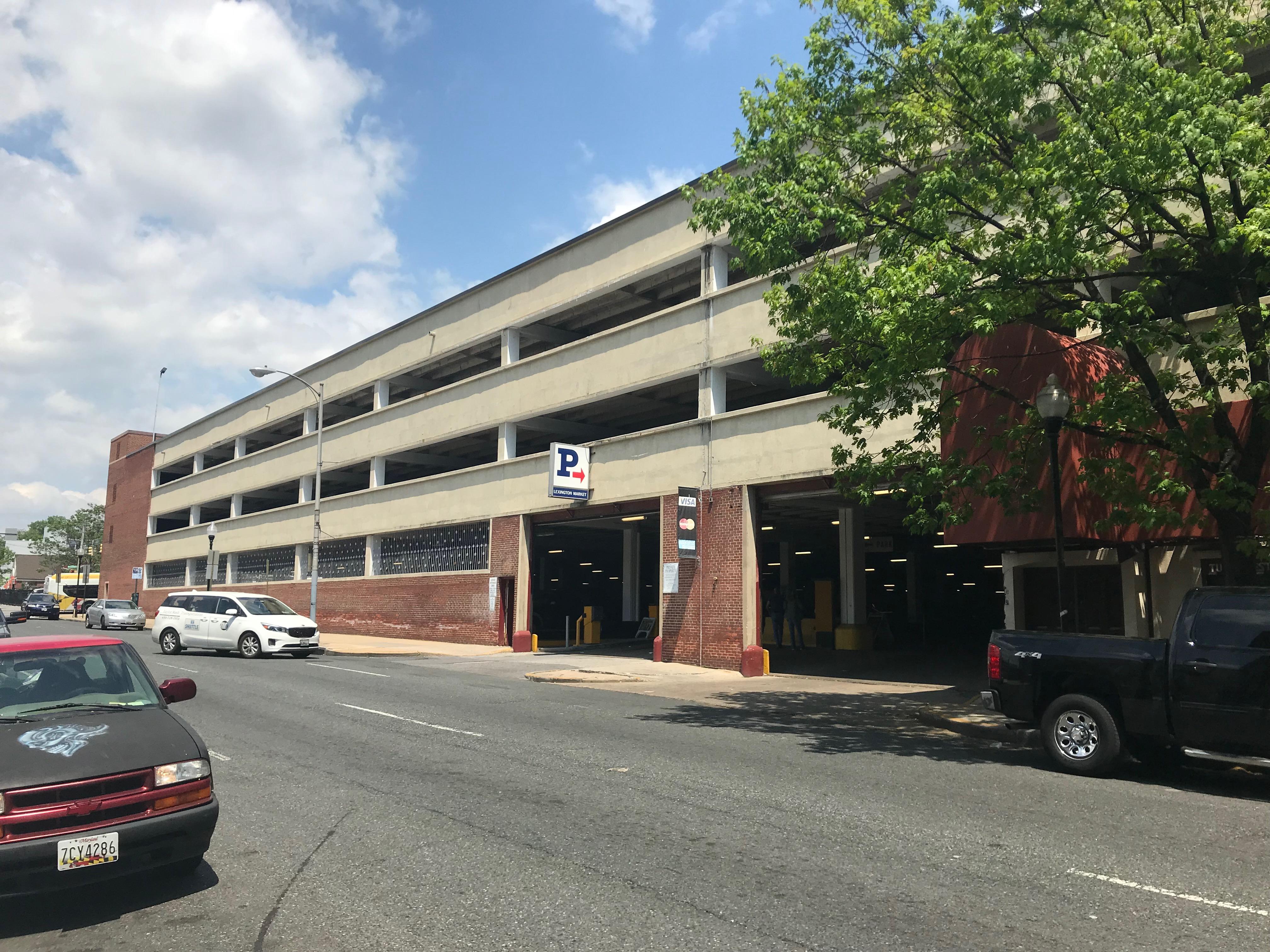 Greene street entrance, lexington market parking garage, 520 w. lexington street, baltimore, md 21201 photo