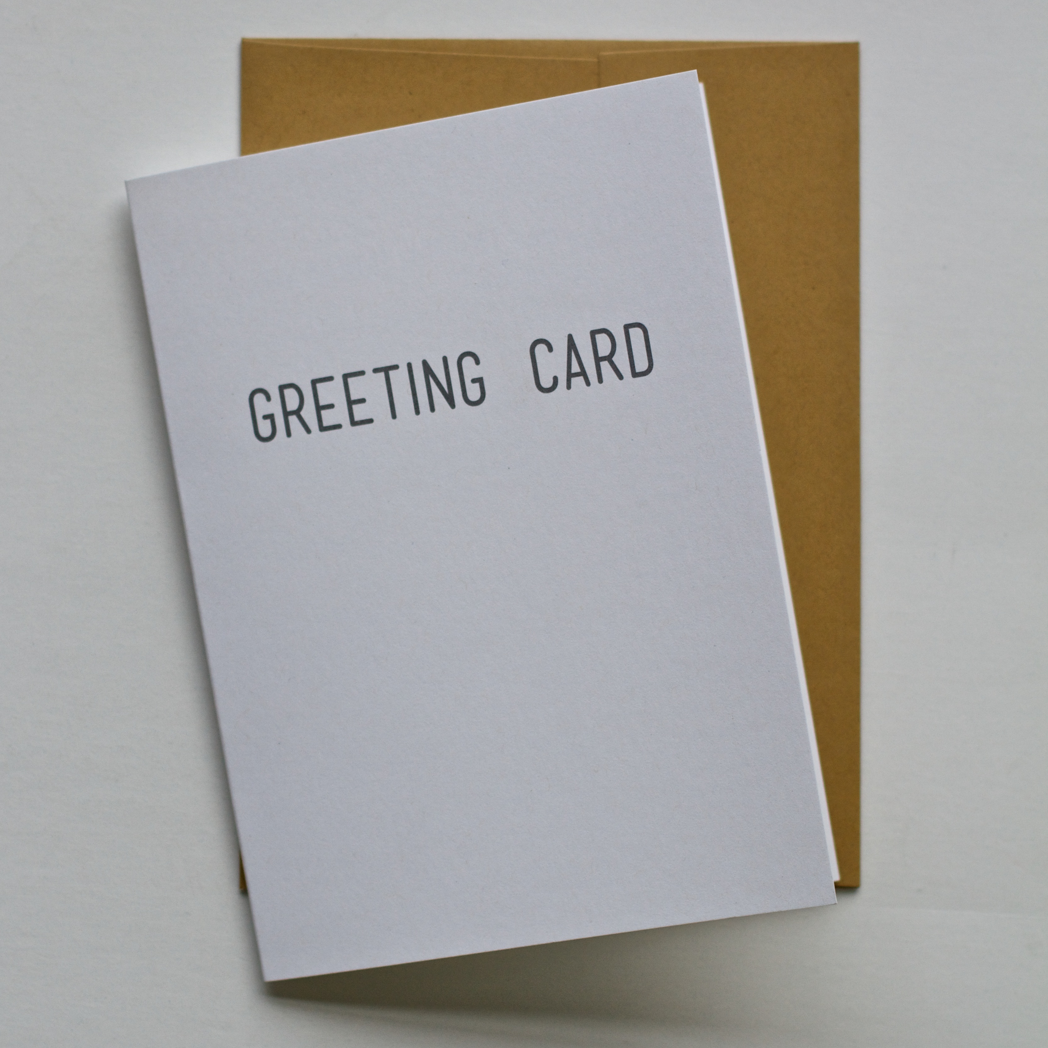 Greeting Card - Registered Goods