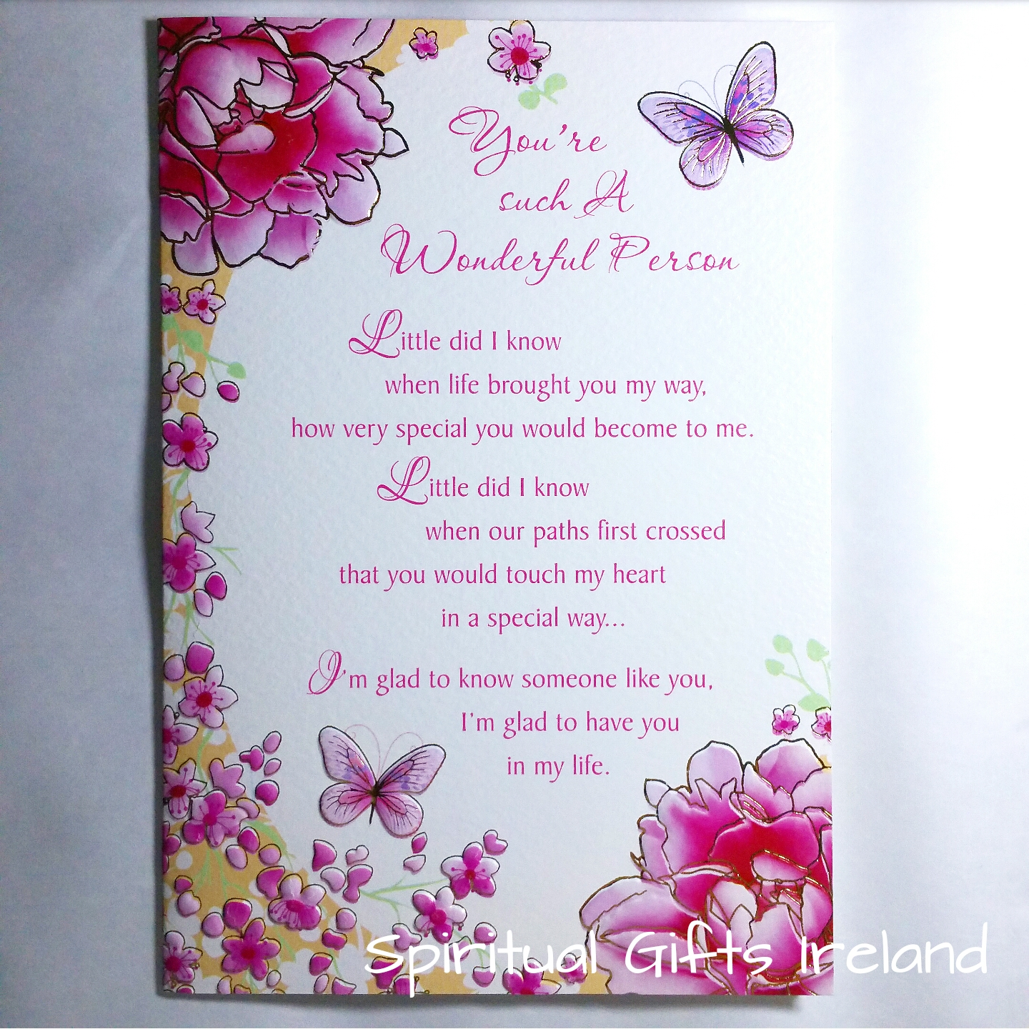 Wonderful Person Inspirational Meaningful Greeting Card - Spiritual ...