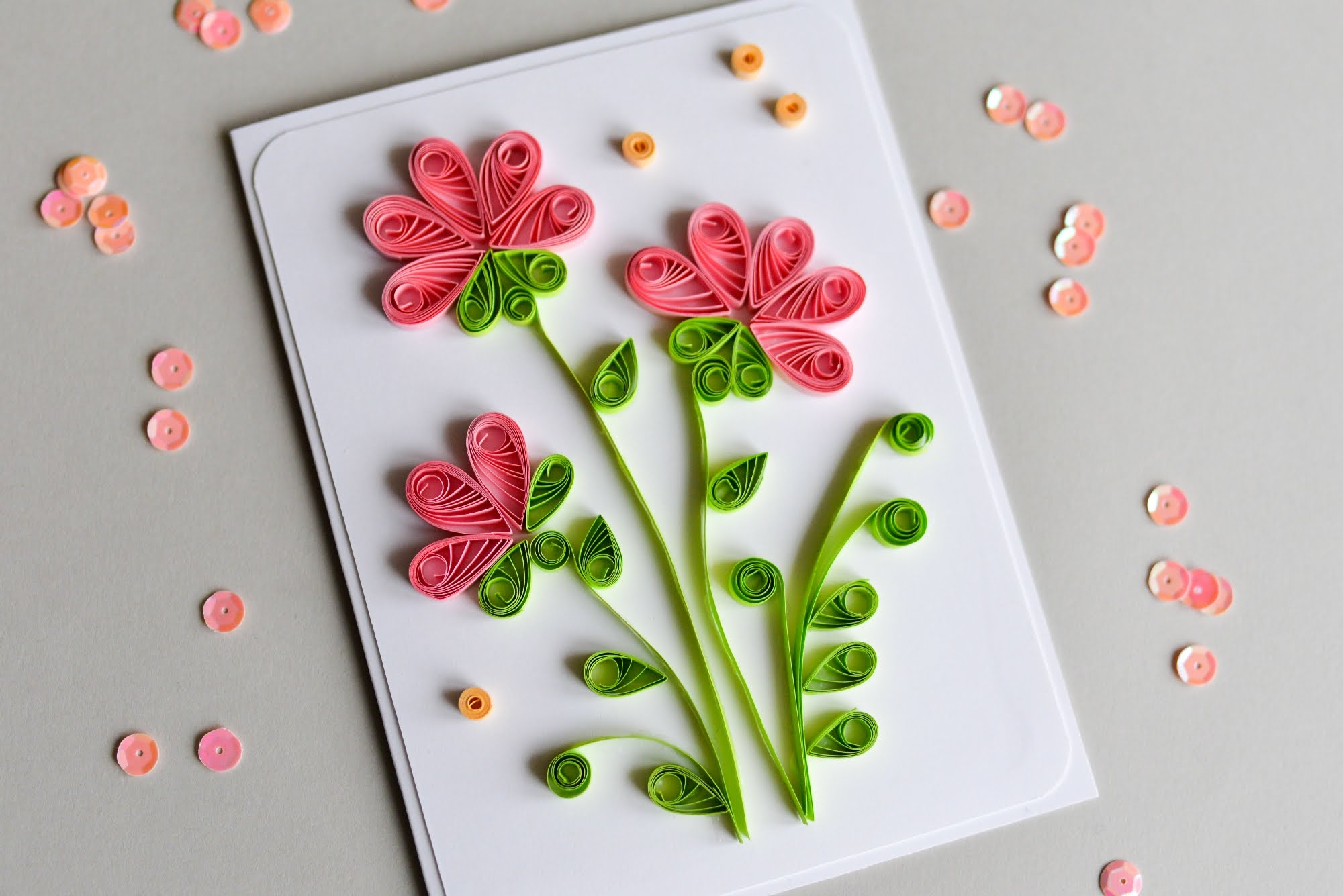 How to Make - Greeting Card Quilling Flowers - Step by Step | Kartka ...