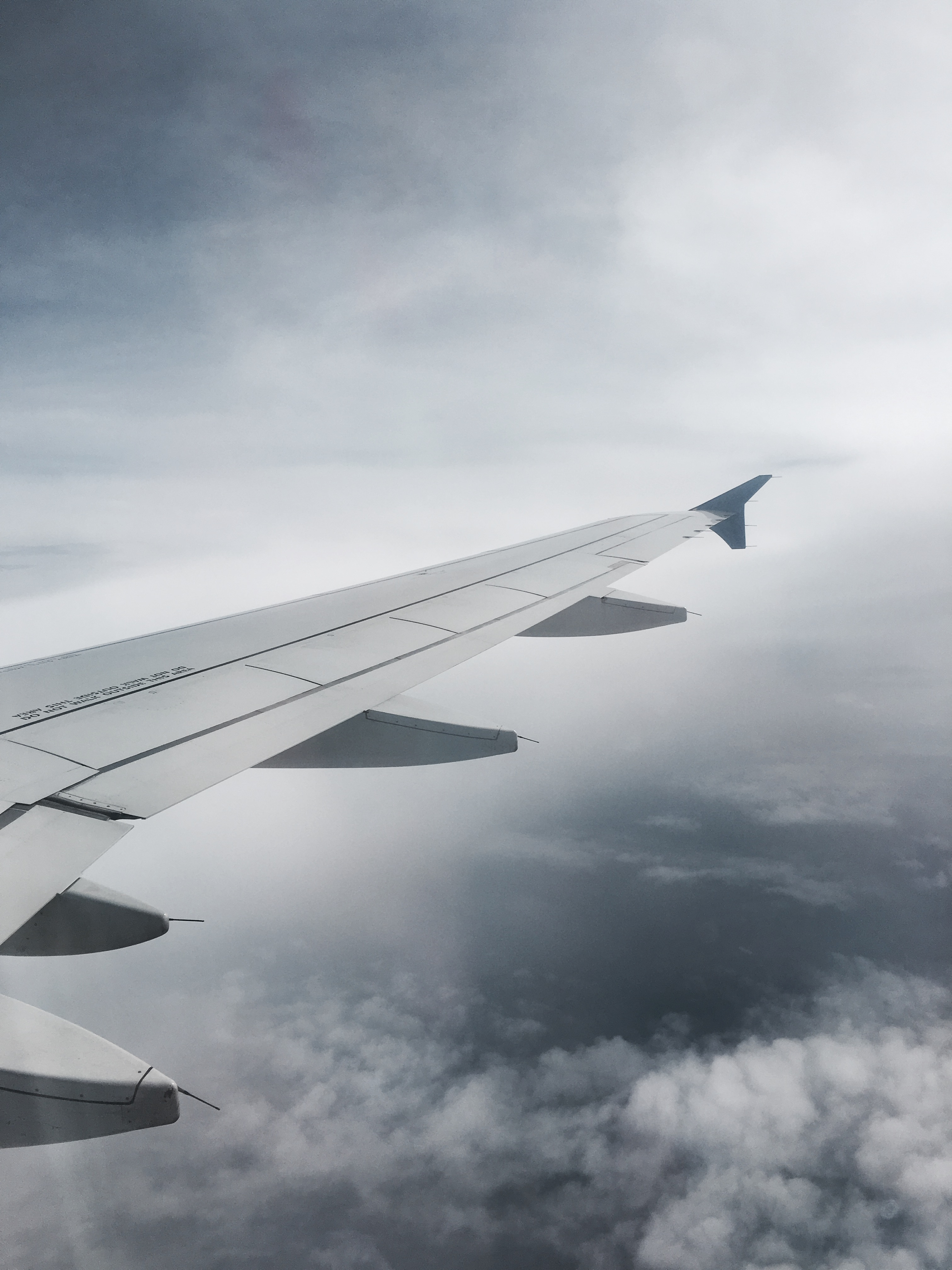 Airplane window, cloudy, sky, plane wing, aesthetic, photography ...