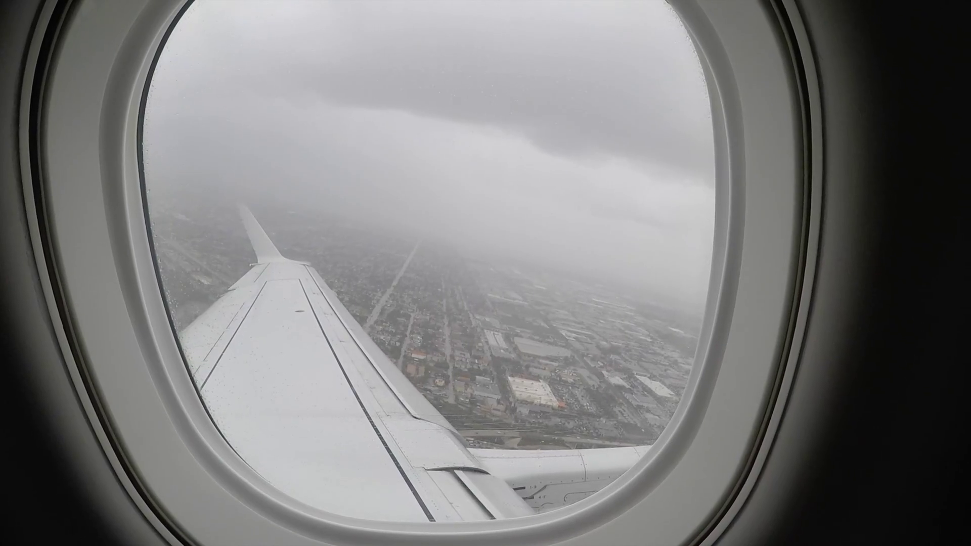 airplane flight in rainy weather window pov Stock Video Footage ...