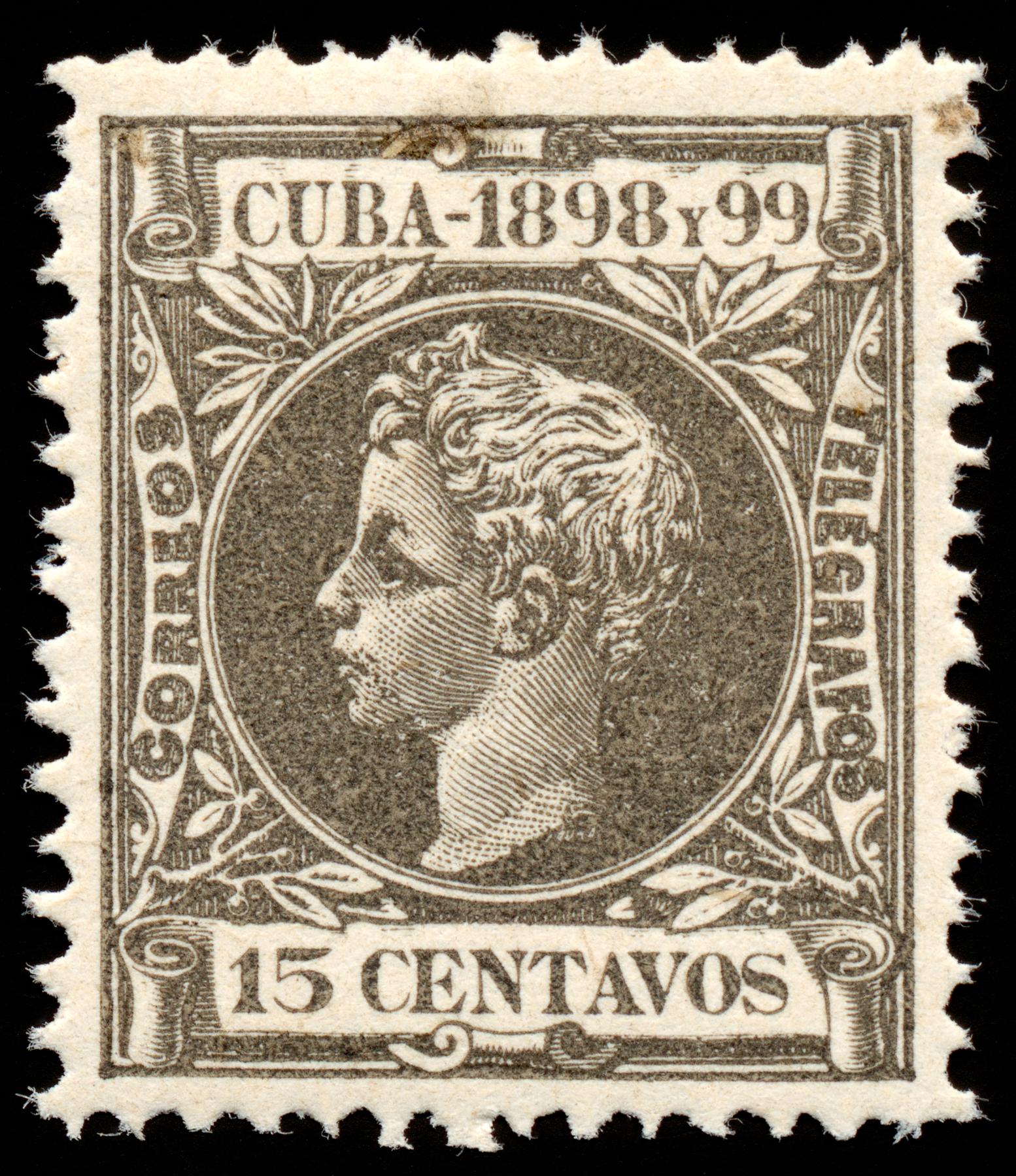 Grey king alfonso xiii stamp photo