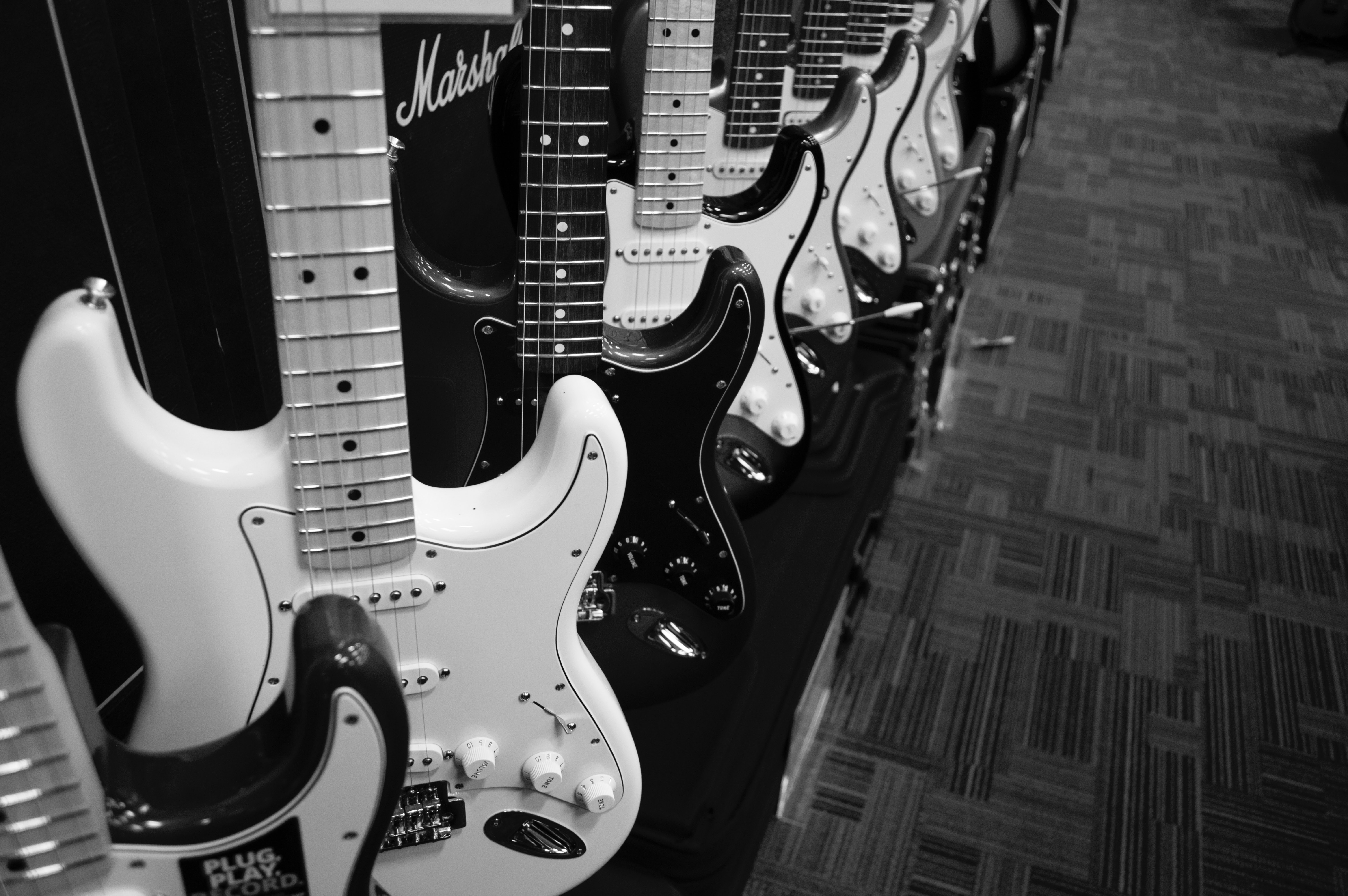 Grey Scale 8 Electric Guitars, Electric, Guitars, Music, Musical instrument, HQ Photo