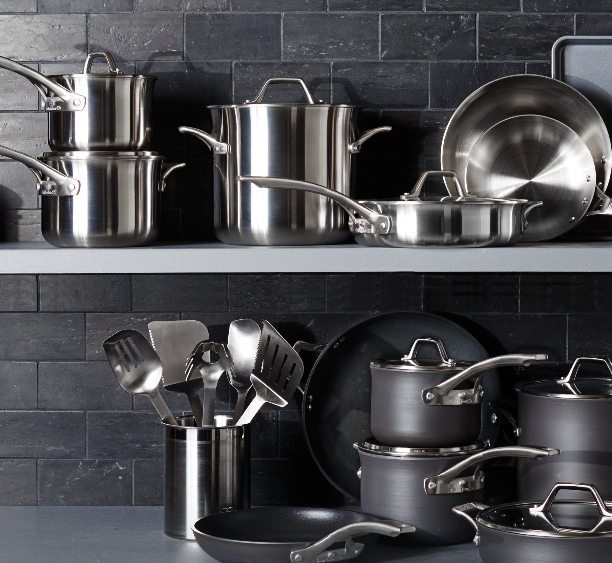 grey steel kitchenwares - Kitchen Wares