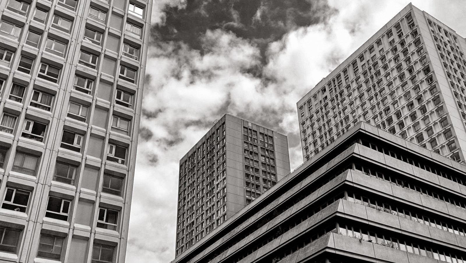 Greyscale Photography of High Rise Building, Architecture, Black-and-white, Building, City, HQ Photo