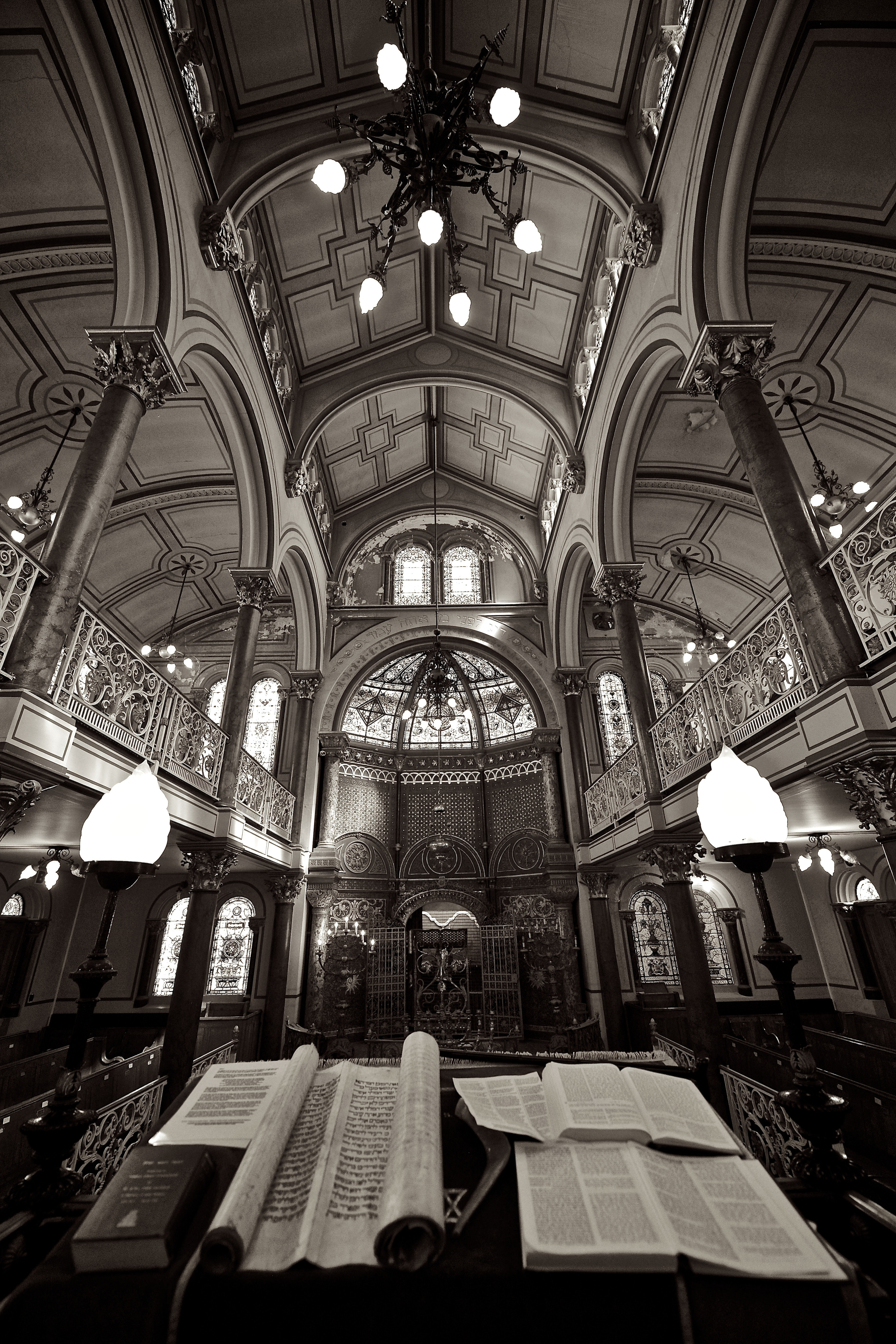 Greyscale Photography of Open Books on Table Inside Dome Building, Architecture, Art, Bible, Books, HQ Photo