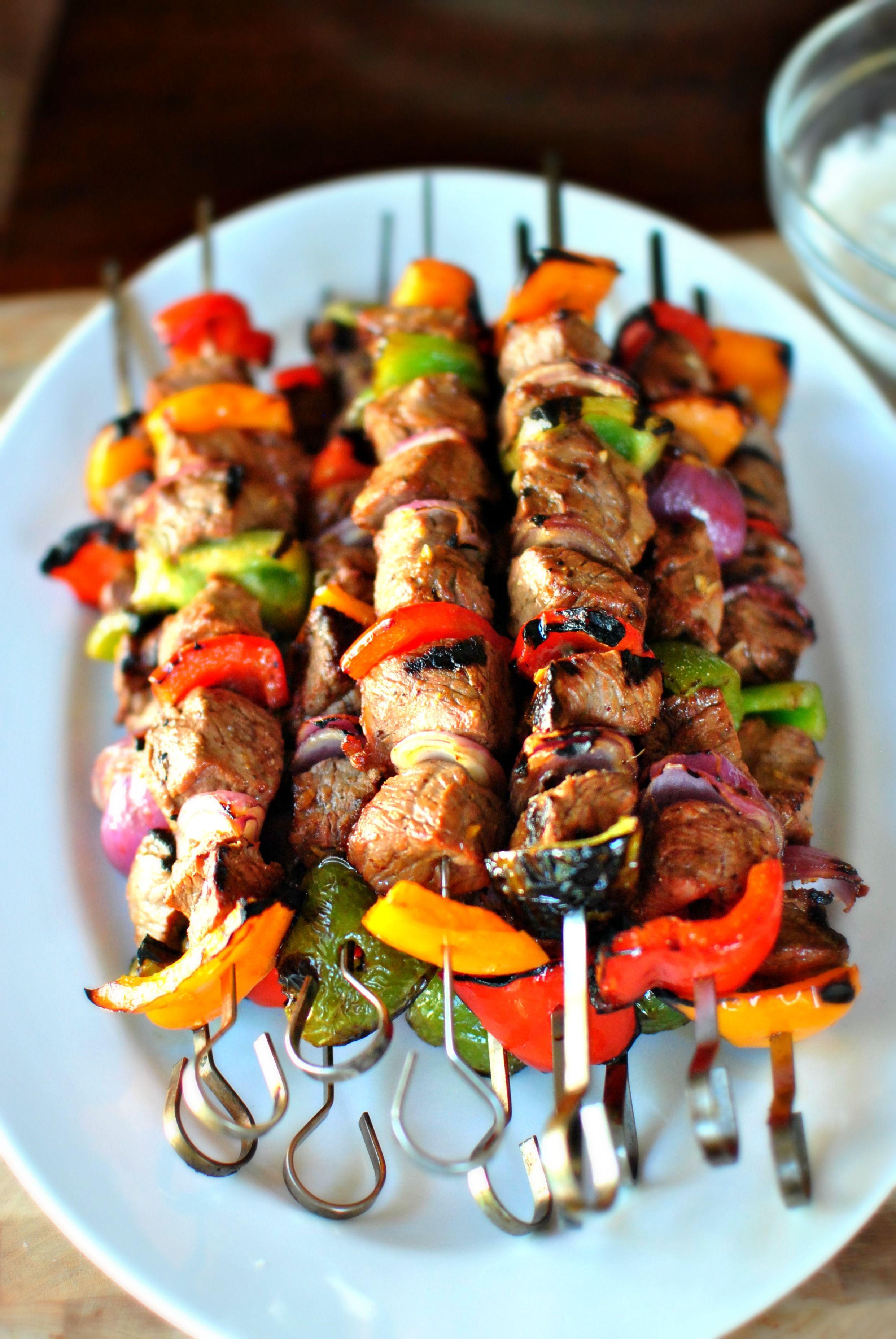 Grilled Marinated Steak Kebabs | Kebabs, Steak and Grilling
