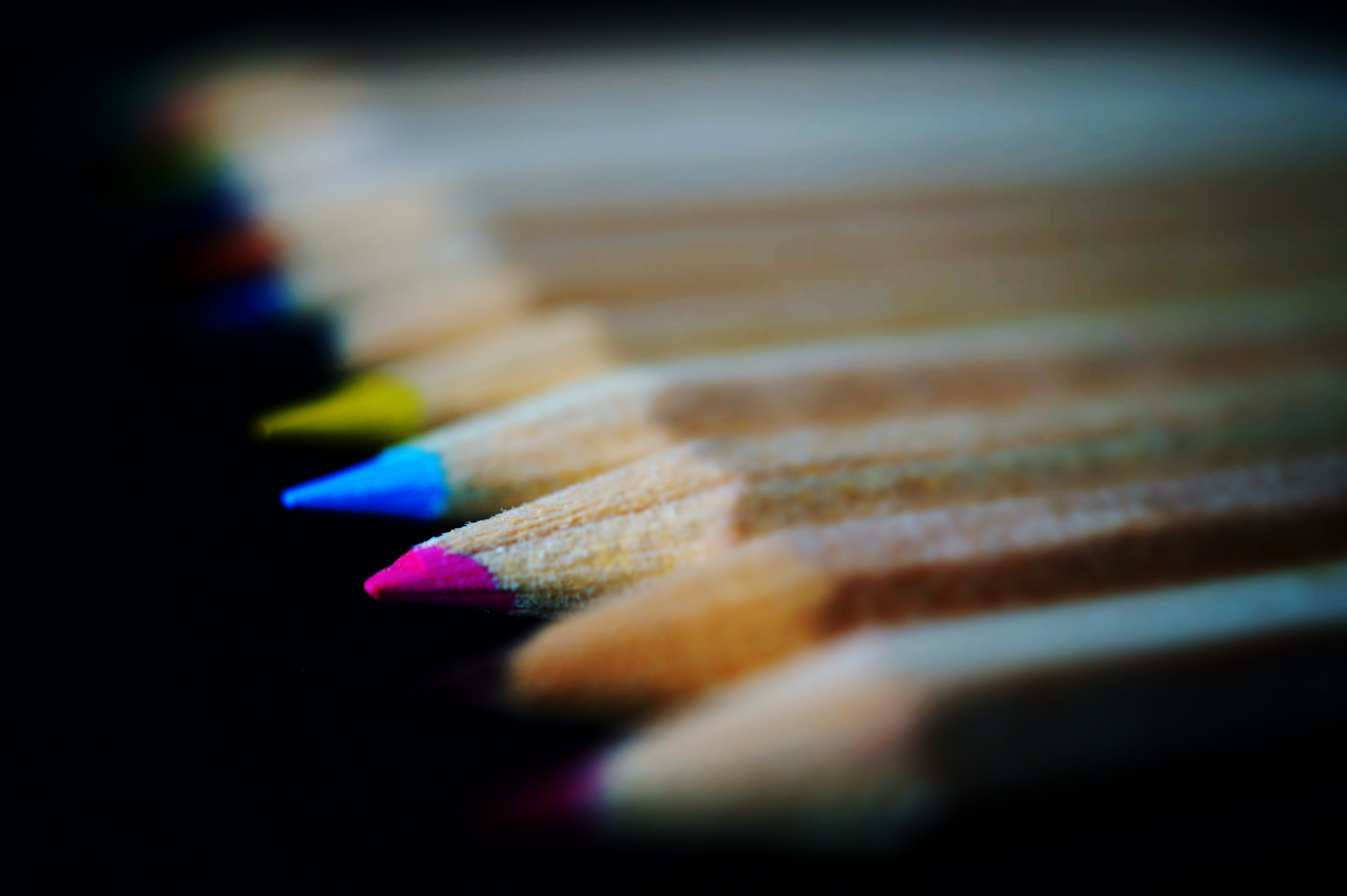 Group of Color Pencils, Macro photography, Wood, Sharp, School, HQ Photo