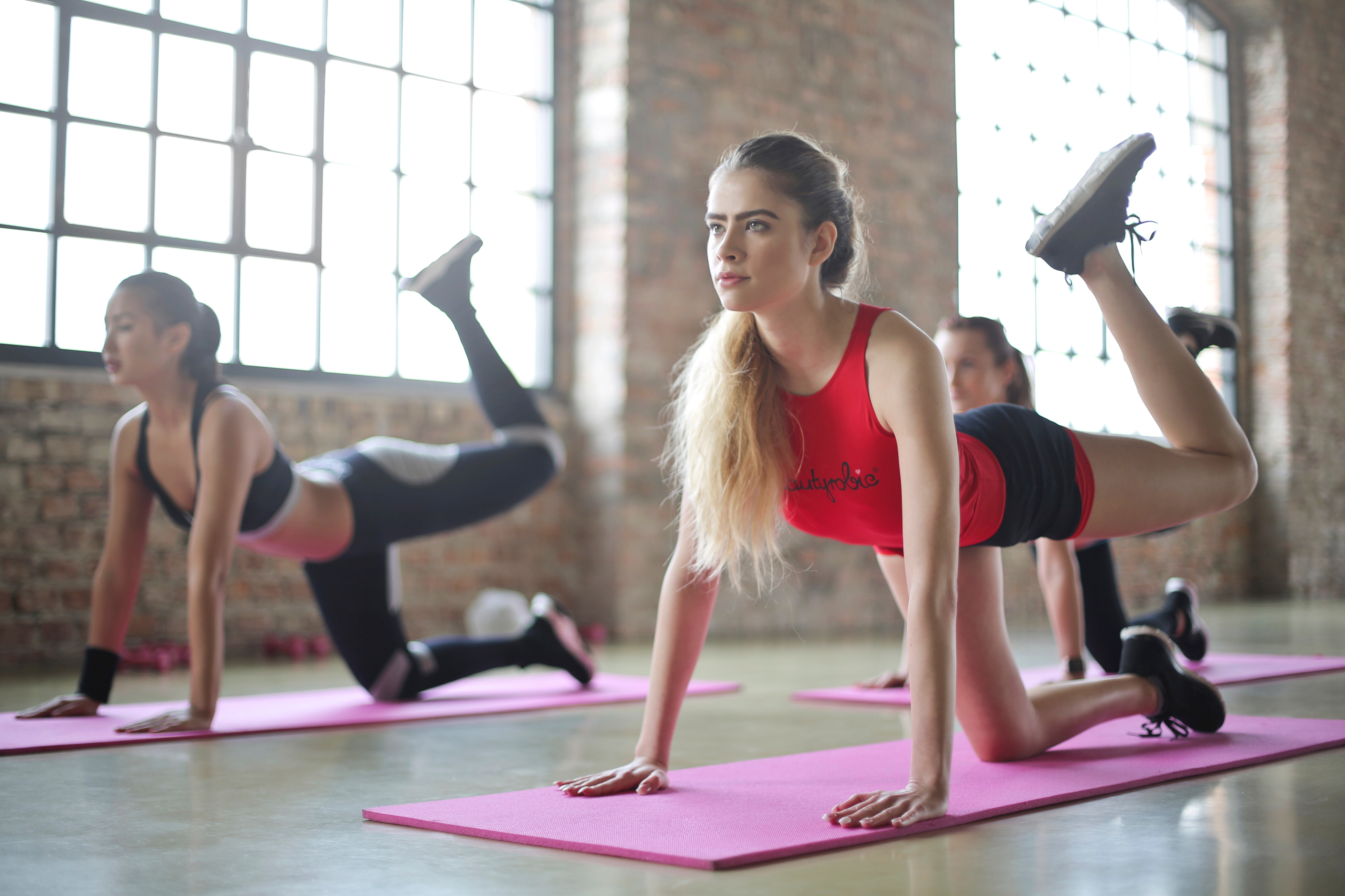 Group of Woman Doing Yoga, Active, Girls, Workout, Women, HQ Photo