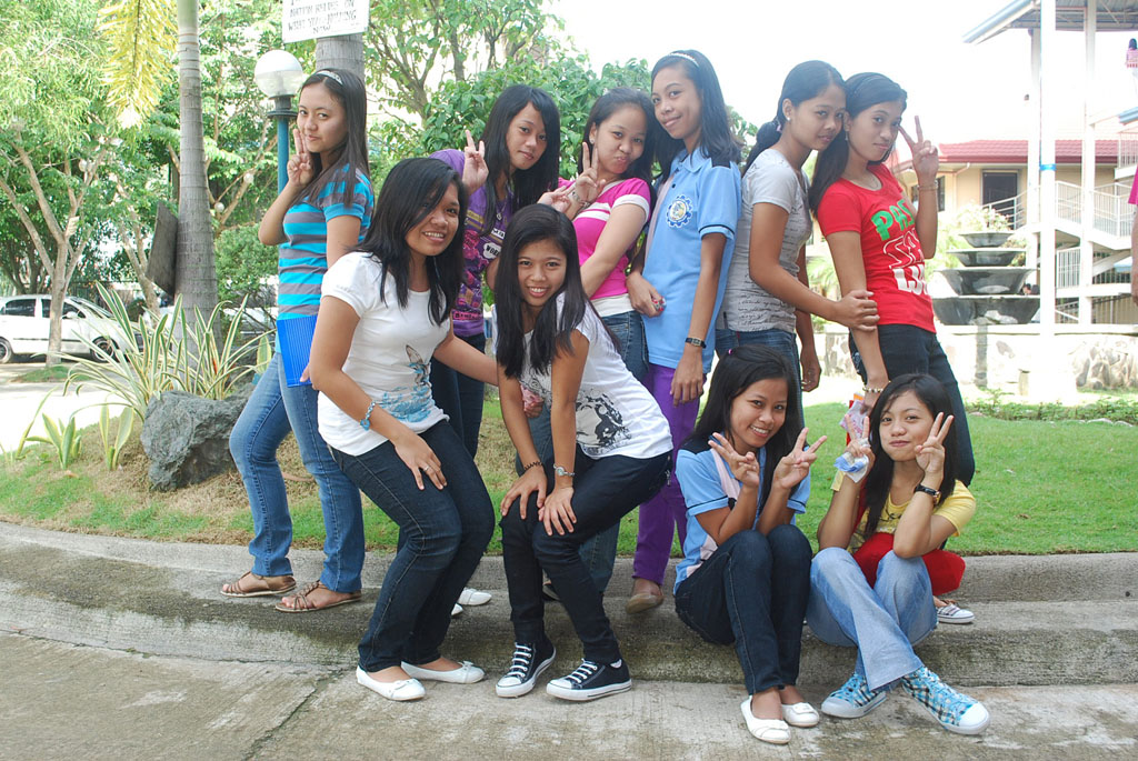 Group Of Young Girls Posing Youth People HQ Photo