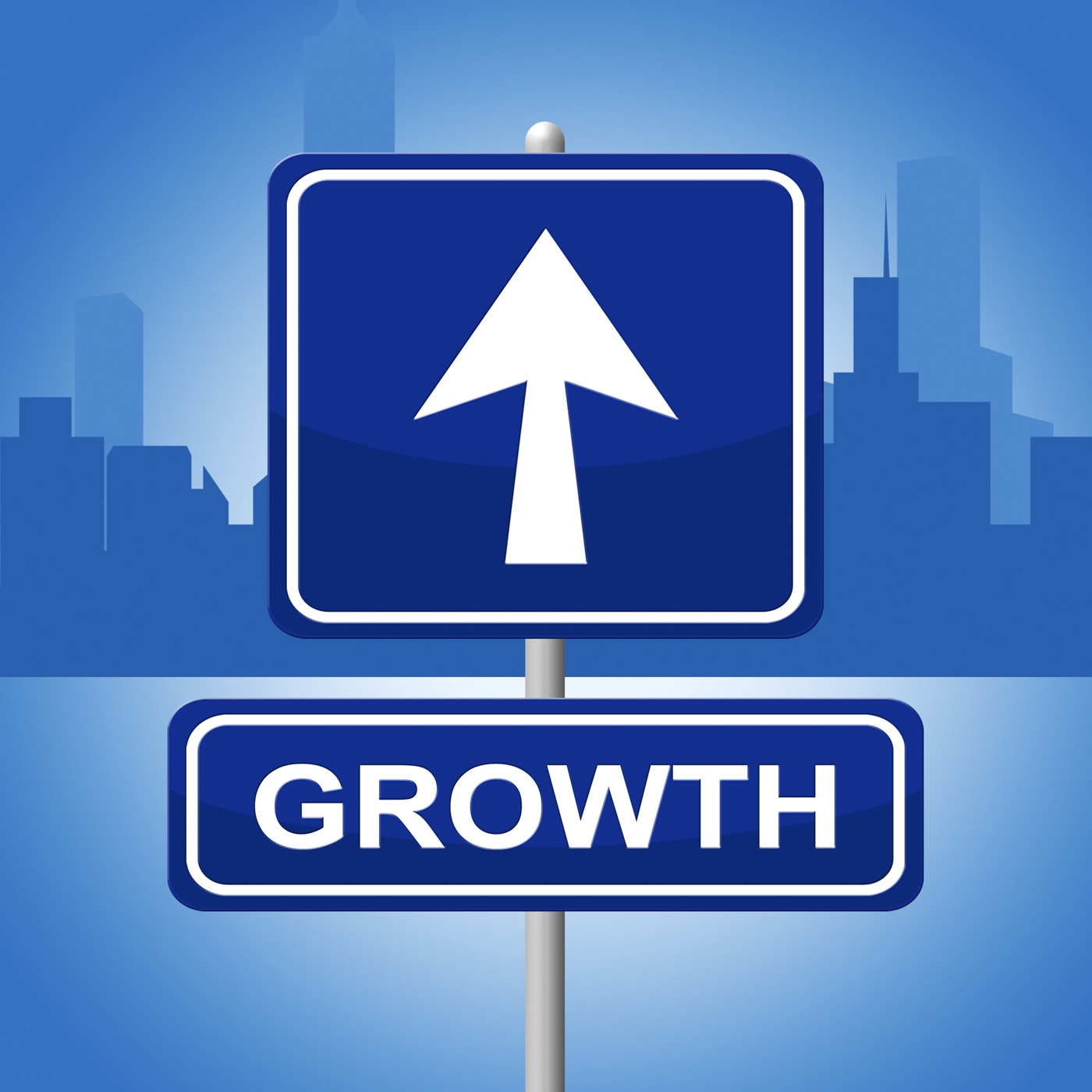 Growth Sign Shows Placard Expansion And Arrow, Improve, Signboard, Sign, Rising, HQ Photo