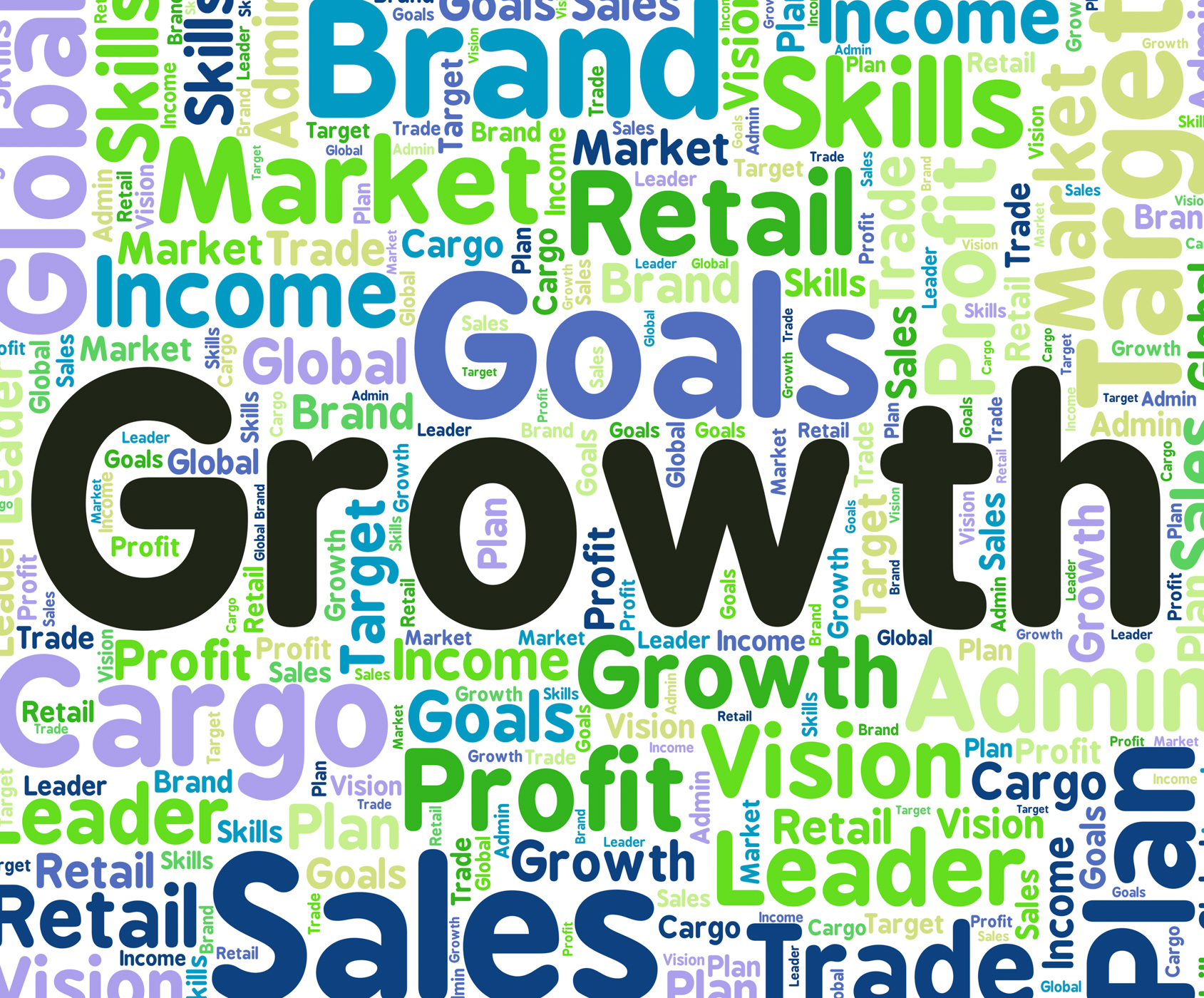 Growth word indicates gain growing and increase photo