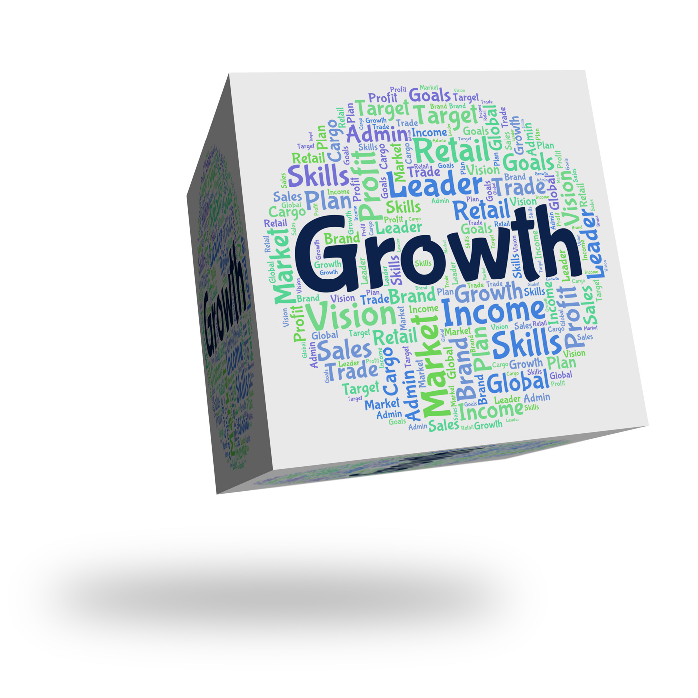 Growth word shows improve words and improvement photo