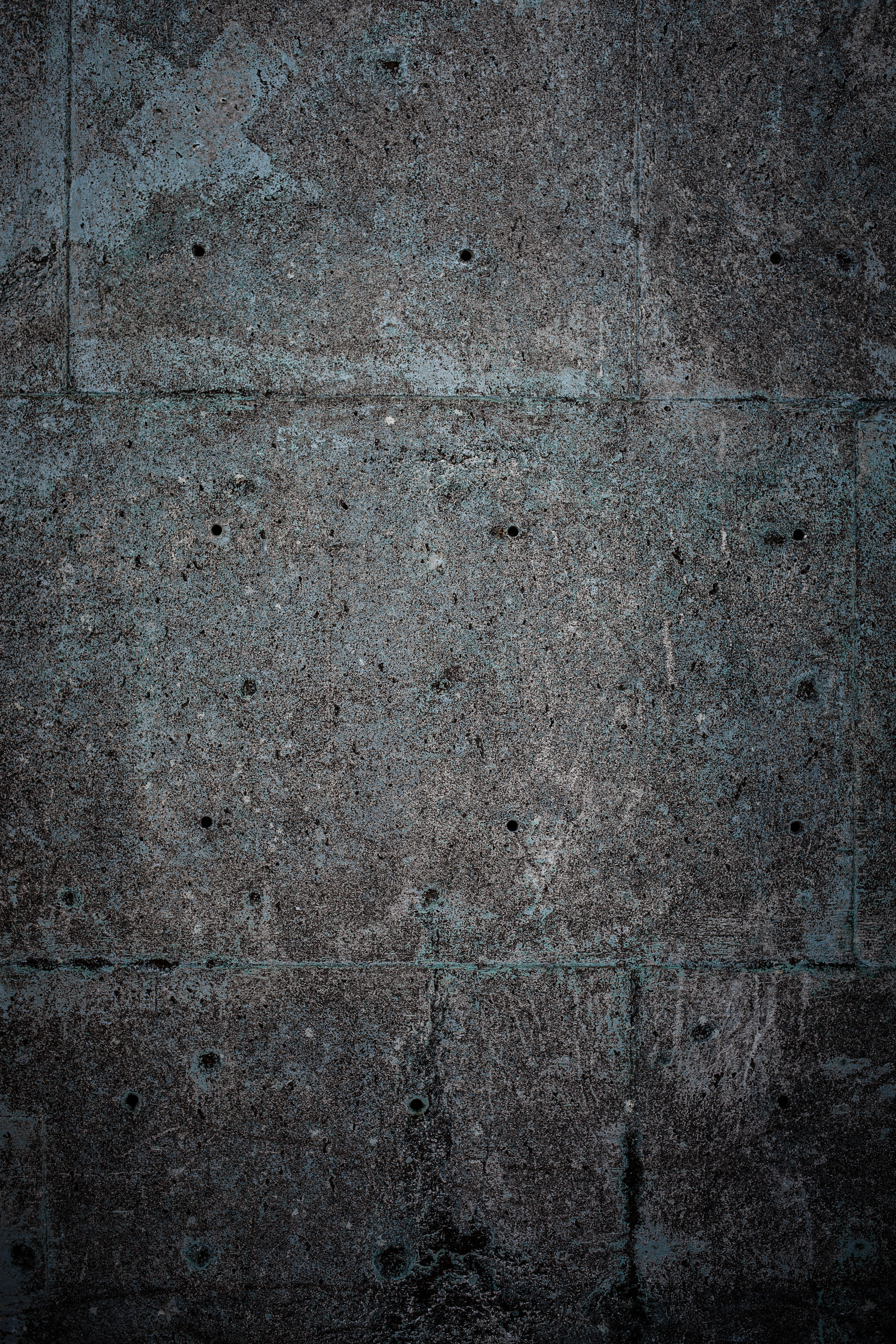 Grunge blue concrete texture photo