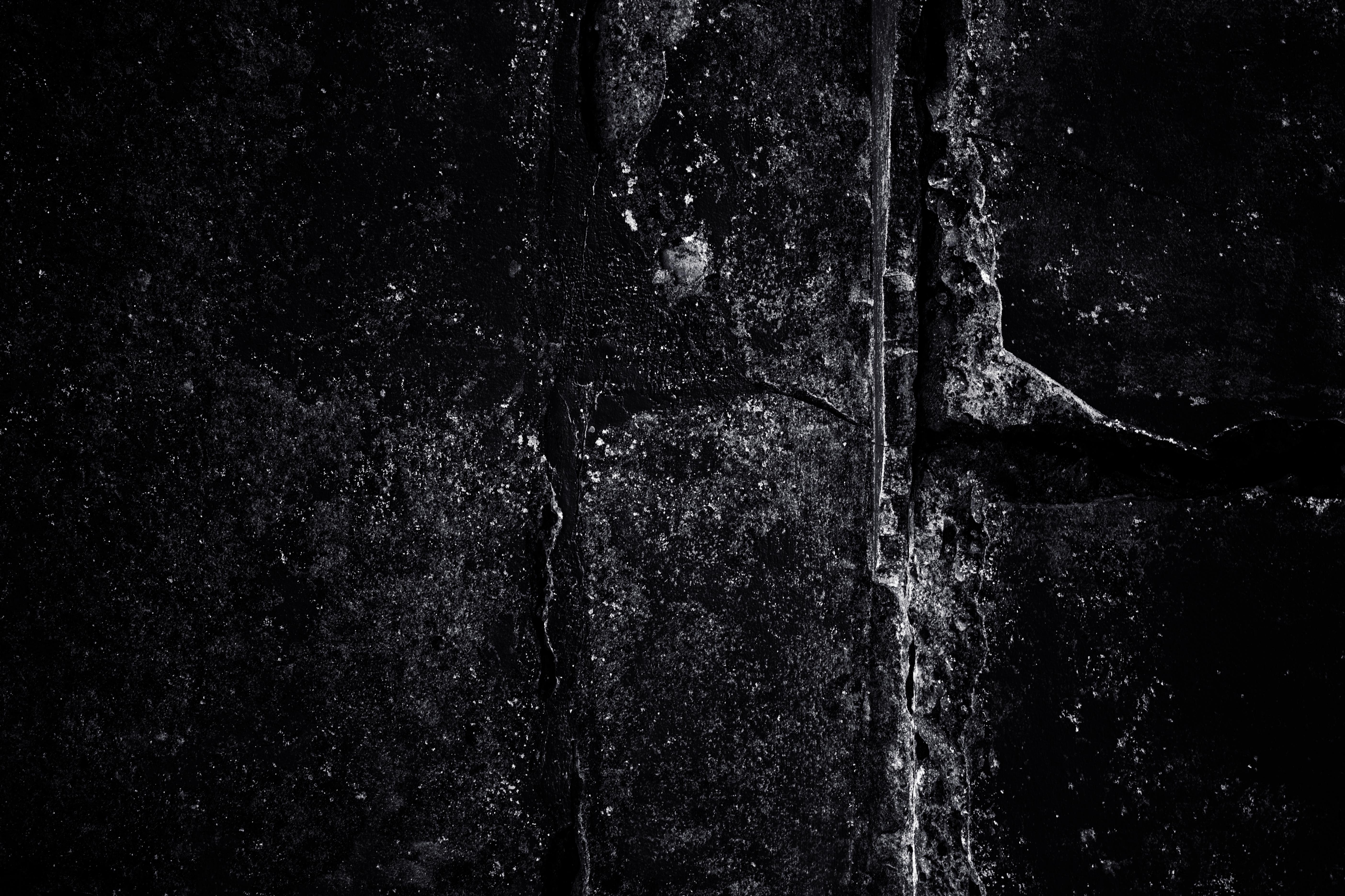 Grunge Overlay Texture, Black, Cracks, Dark, Detail, HQ Photo