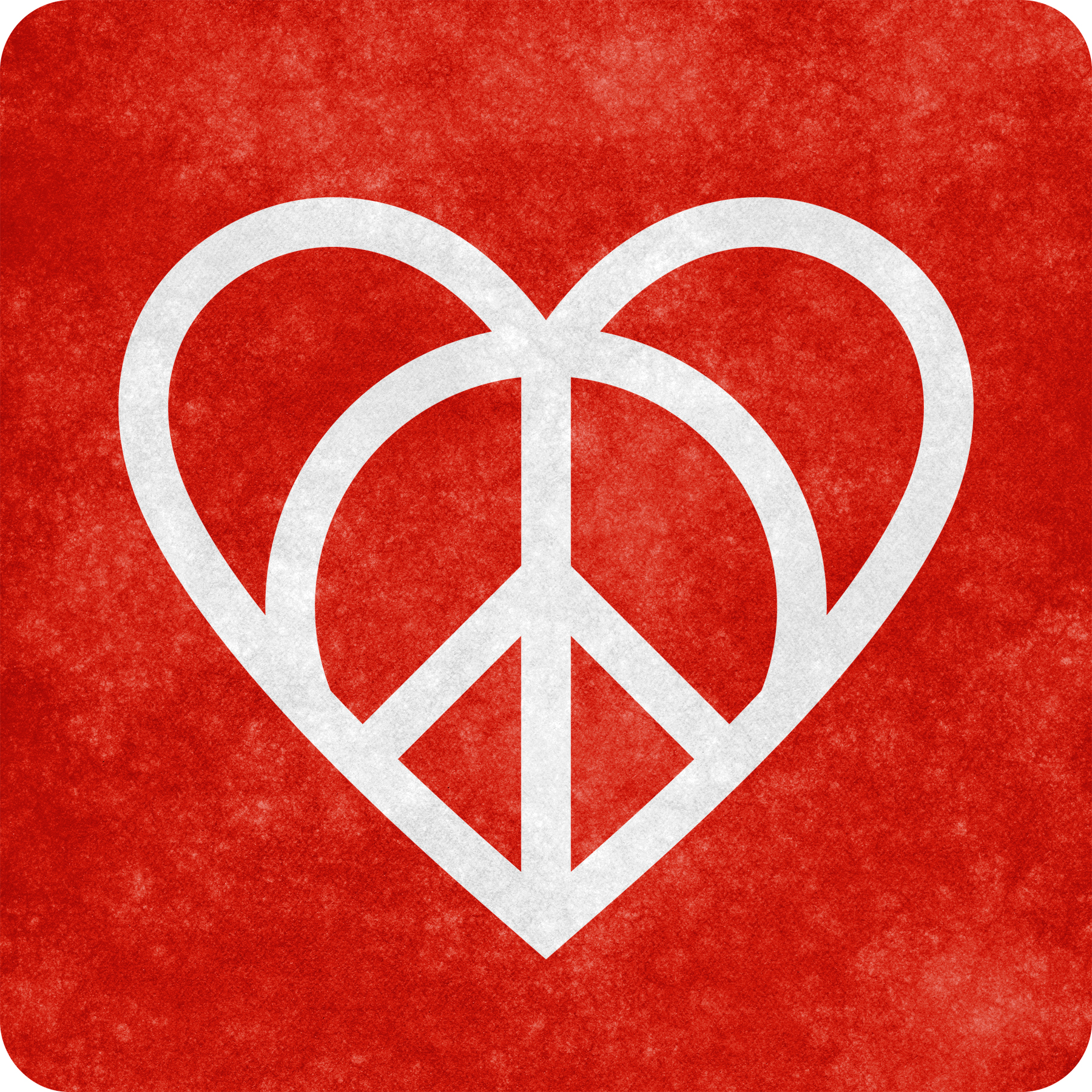 Grunge sign - love and peace photo