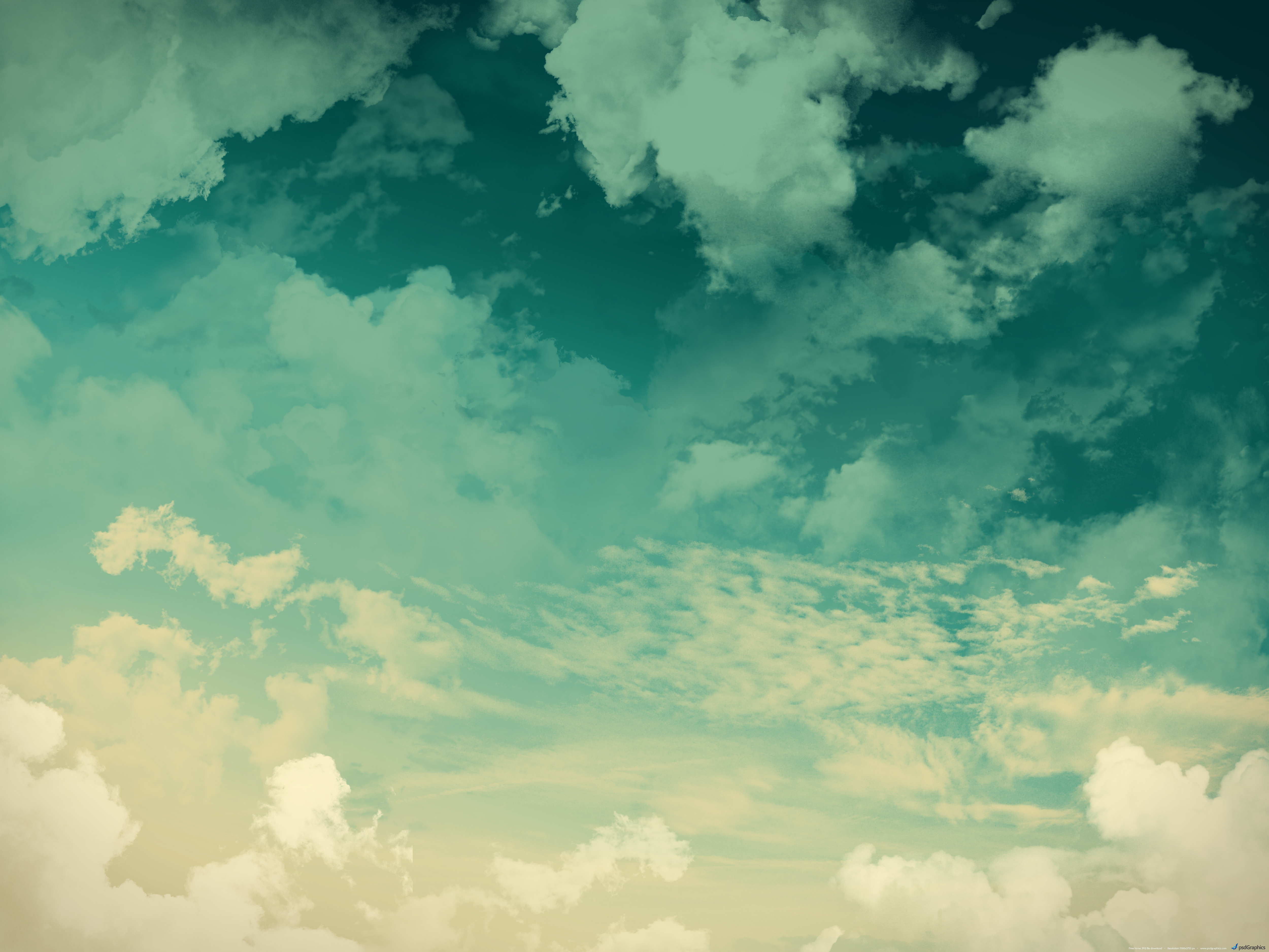 Grunge sky background, green clouds | PSDGraphics