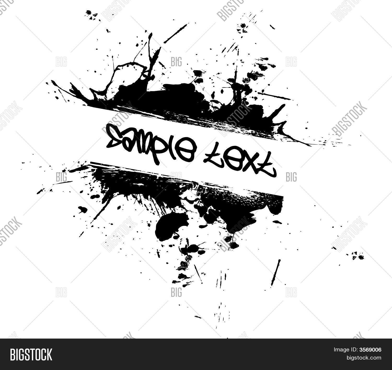 Grunge Tag Splatter Vector & Photo | Bigstock