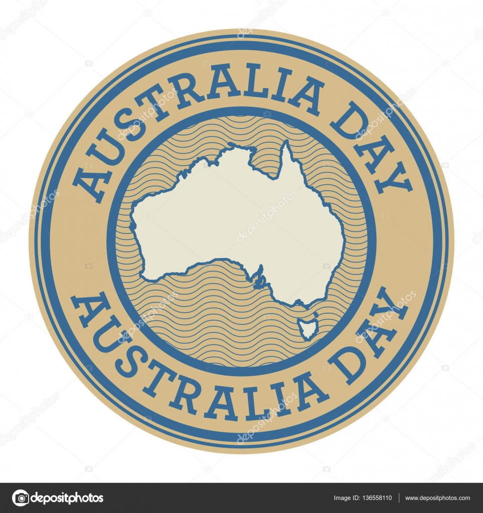 Grunge rubber stamp or tag with text Australia Day — Stock Vector ...