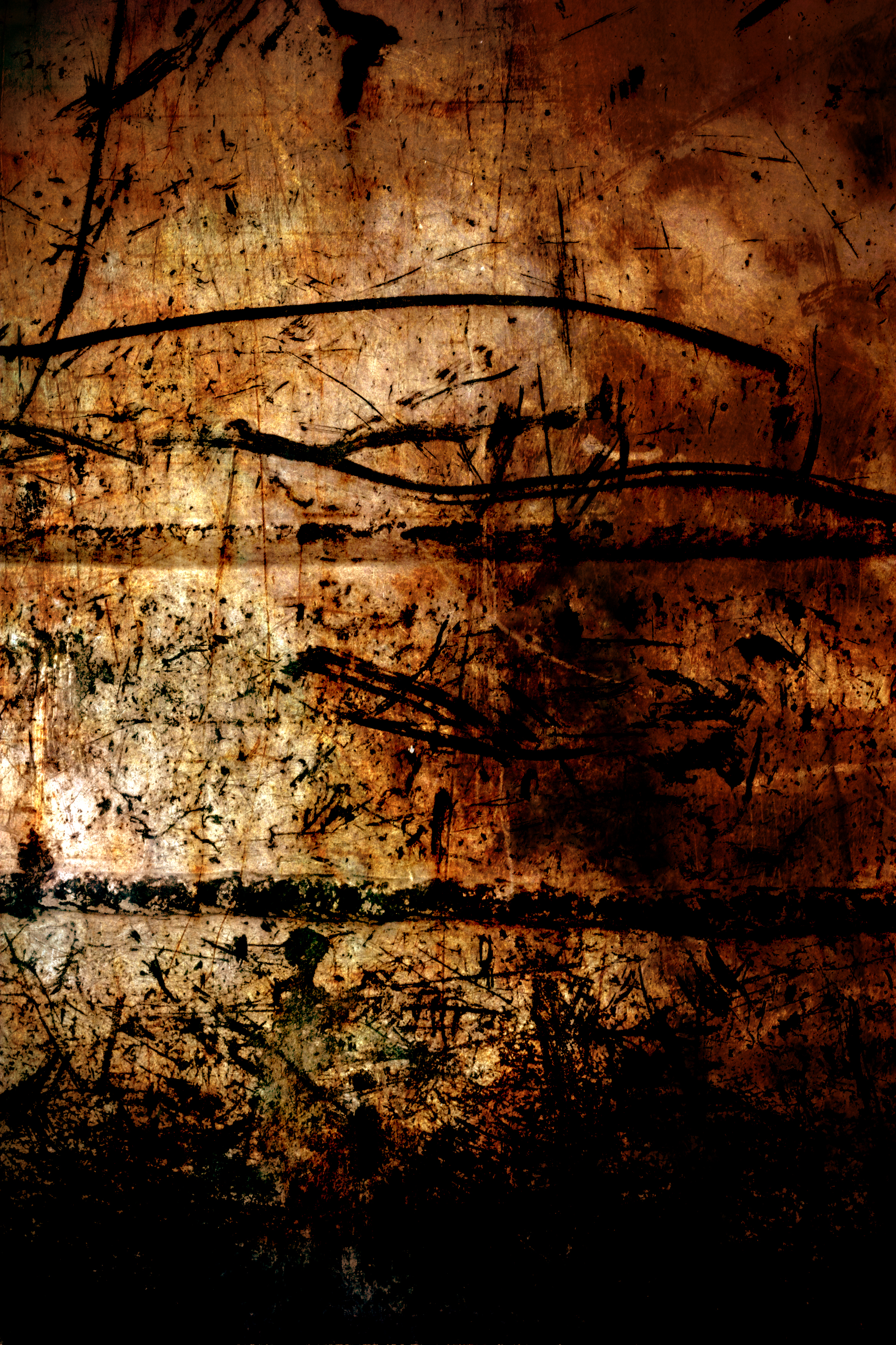 Grunge Texture, Black, Brown, Damaged, Dark, HQ Photo