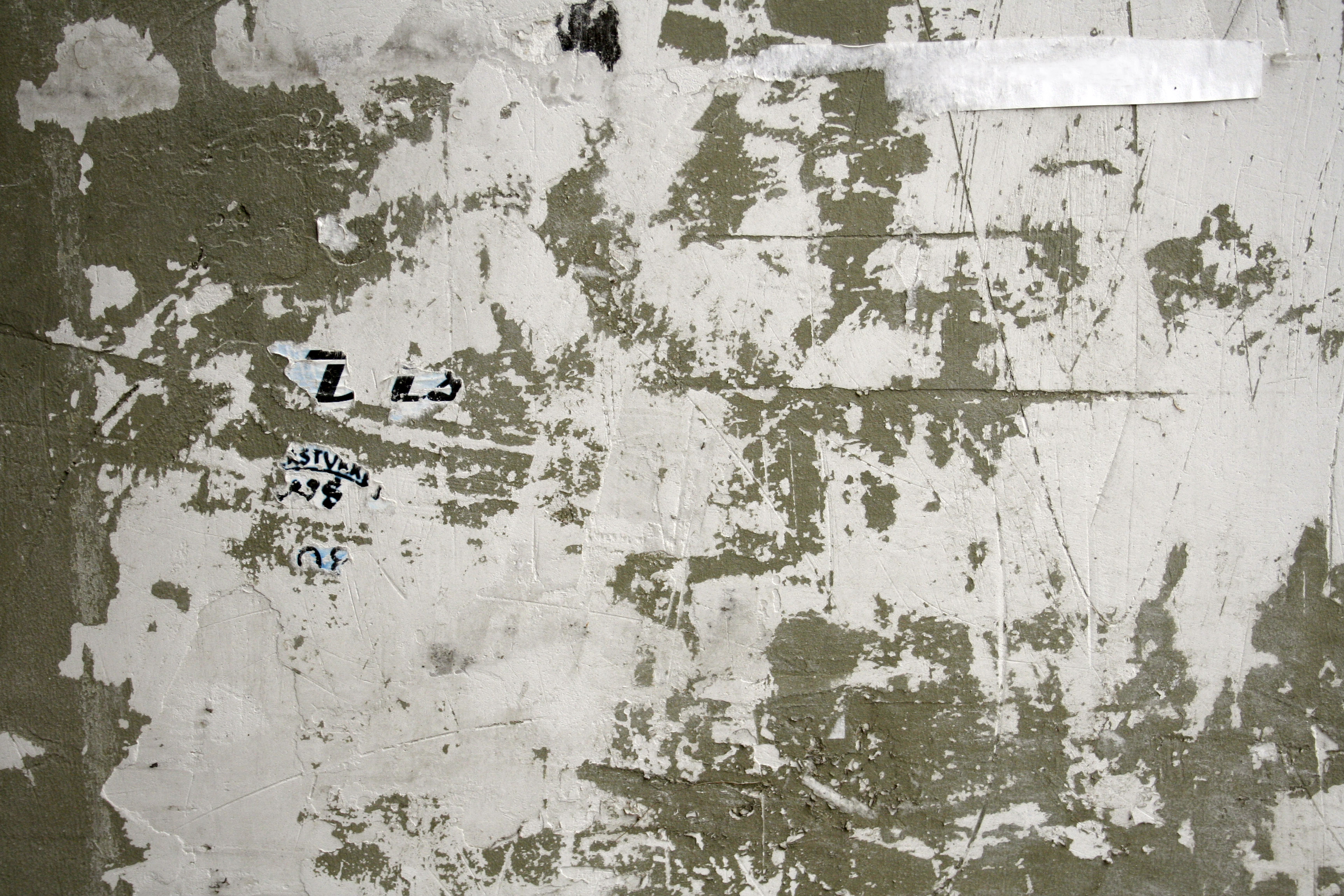 Grunge, white painted cracked wall texture | Textures for photoshop free