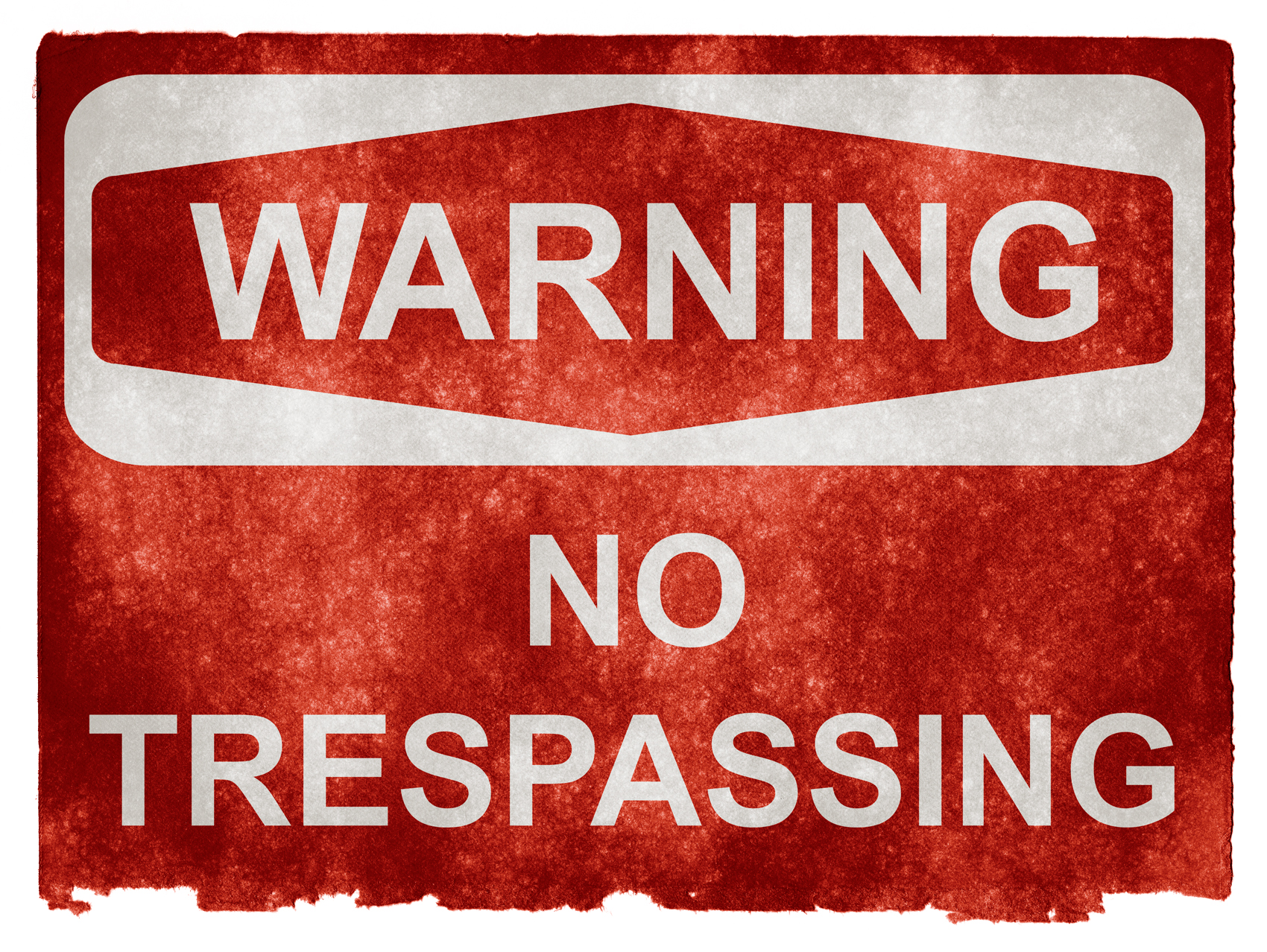 Grunge warning sign - no trespassing photo