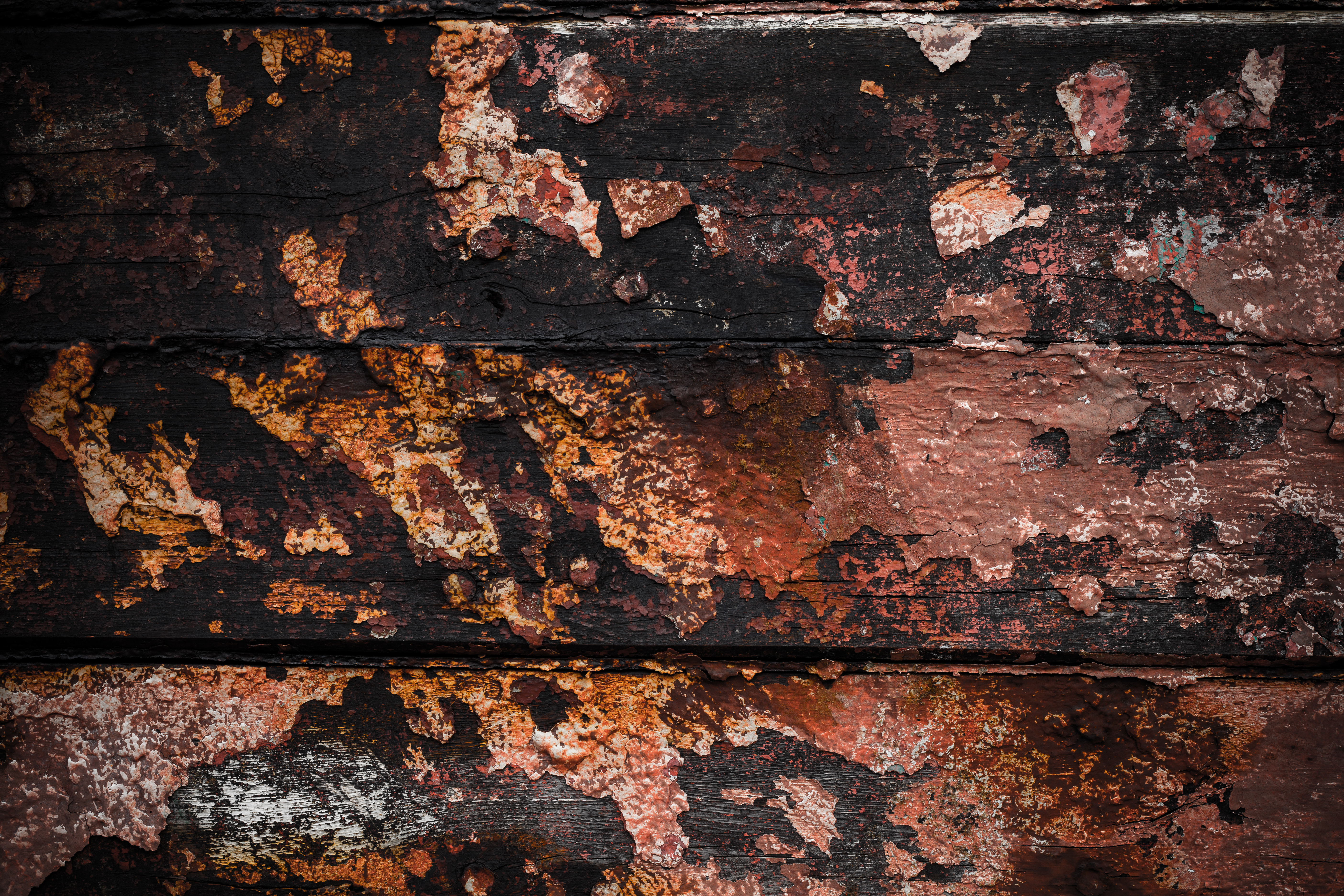 Grunge Wood with Peeled Paint, Damaged, Dark, Dirt, Gritty, HQ Photo