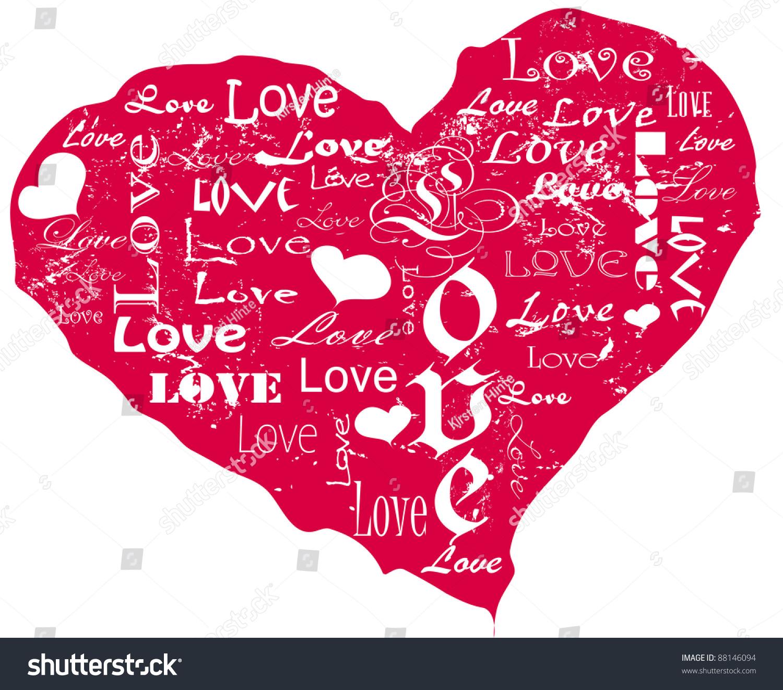 Grungy heart photo