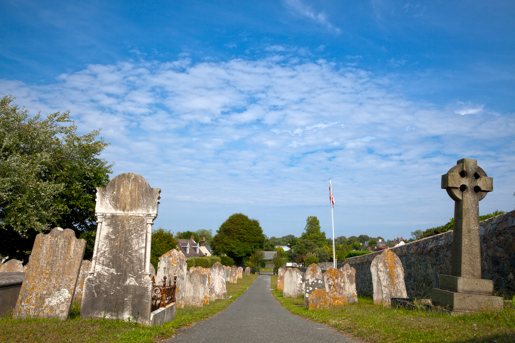 Guernsey cemetery - hdr photo