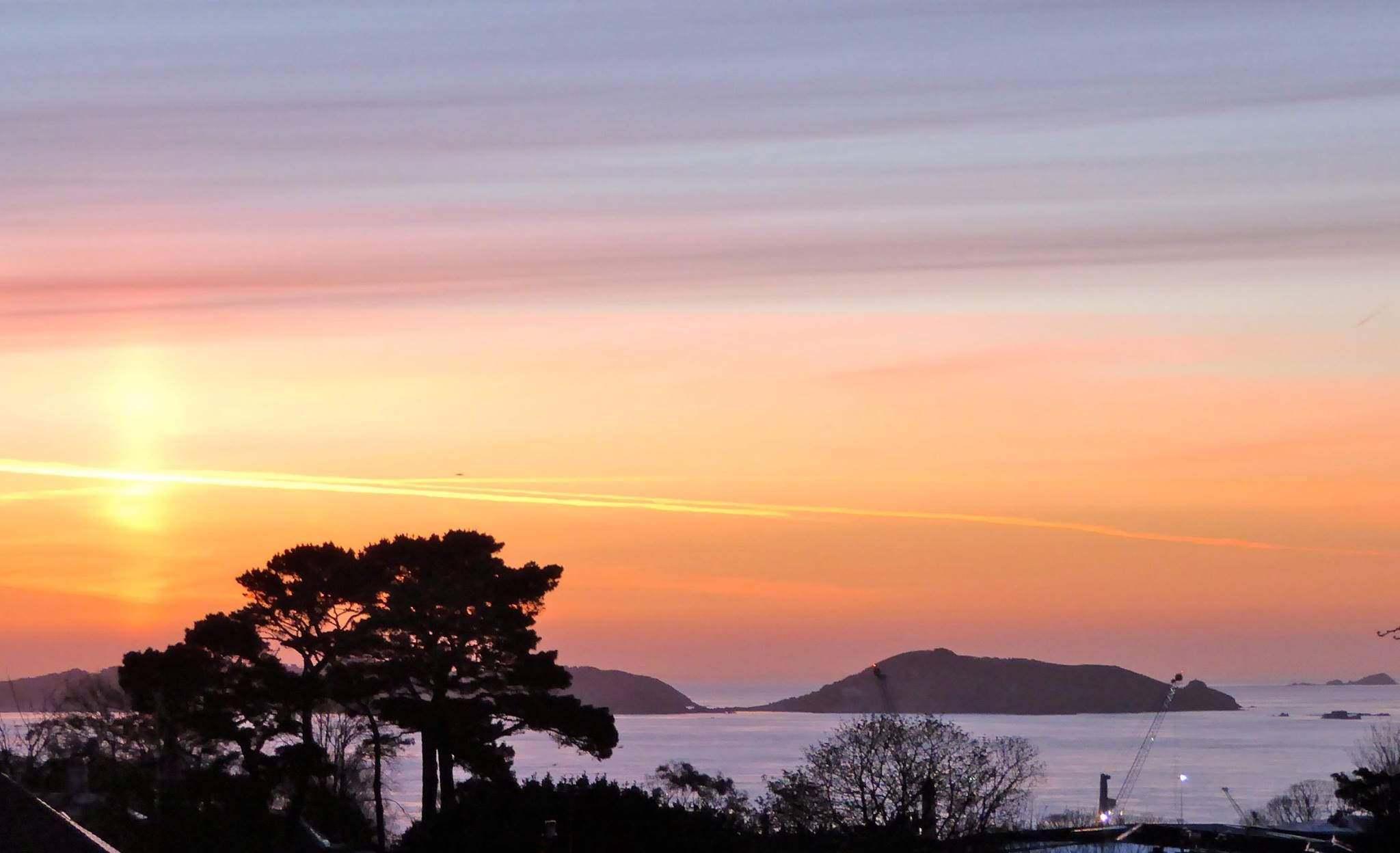 Beautiful sunrise over Herm. Photo: Chris Betley. | Guernsey Sunrise ...