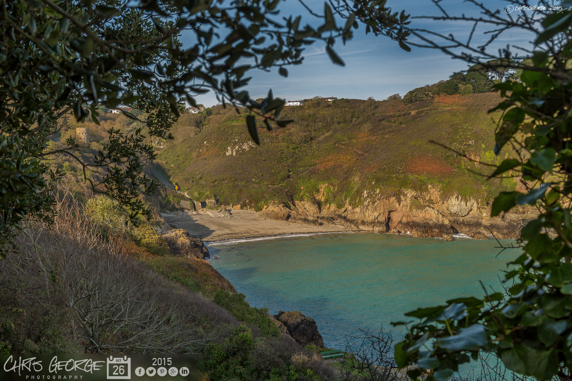 Following the cliff path down into Saints Bay in the Autumn sunshine ...