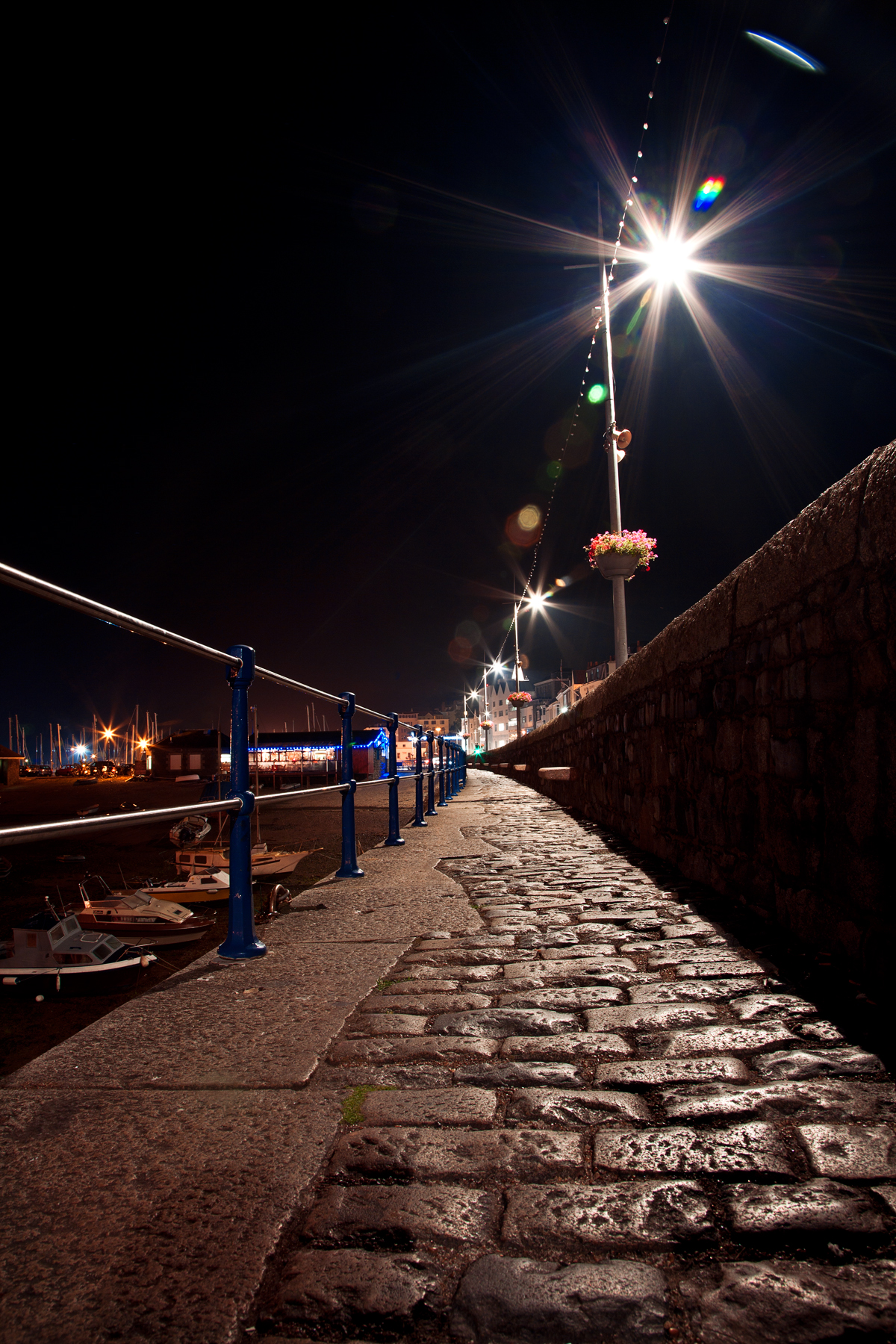 Guernsey Night Path, Alley, Perspective, Shiney, Shine, HQ Photo