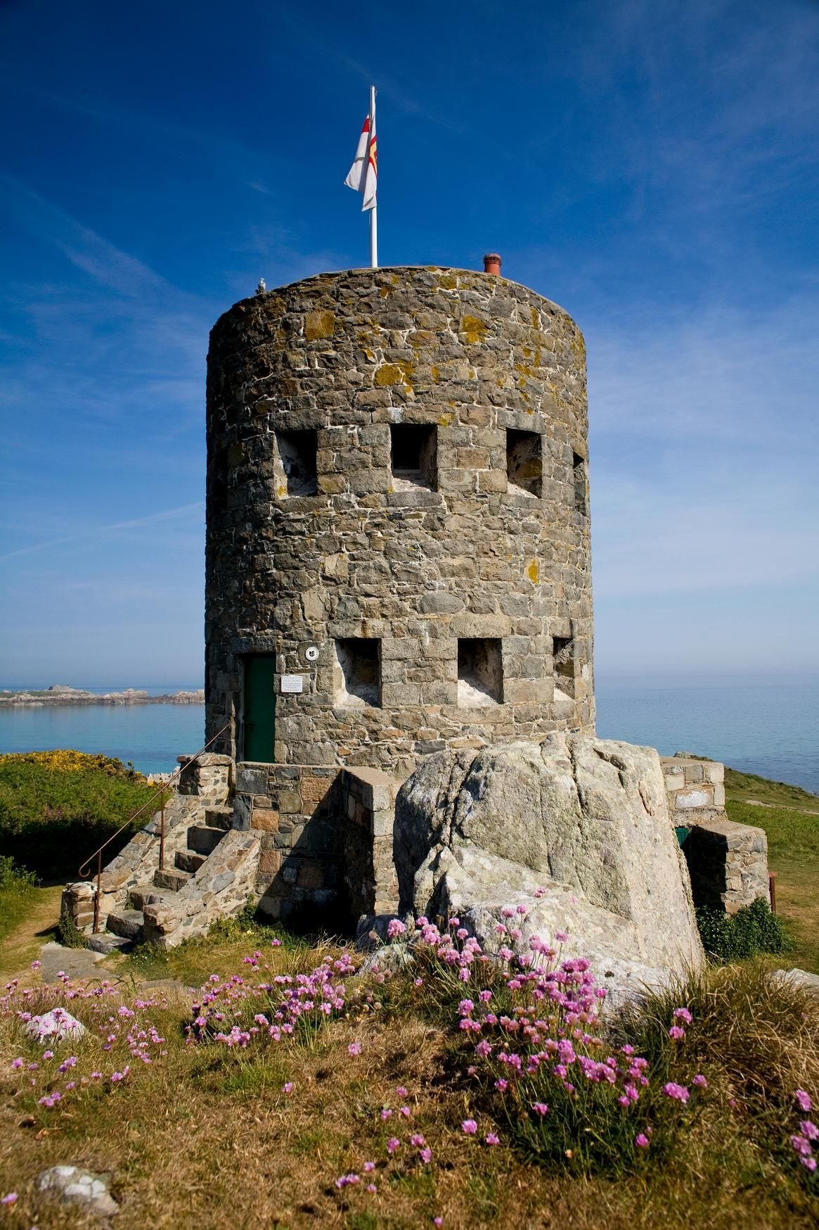 Martello towers (or loophole towers) started appearing on Guernsey's ...