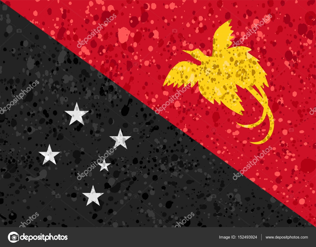 papua new guinea flag grunge illustration — Stock Vector © noche0 ...