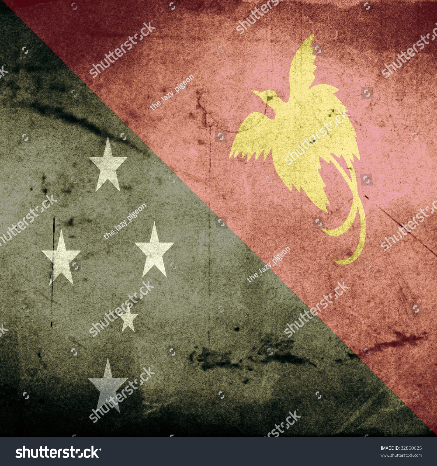 Grunge Flag Papua New Guinea Shadow Stock Illustration 32850625 ...