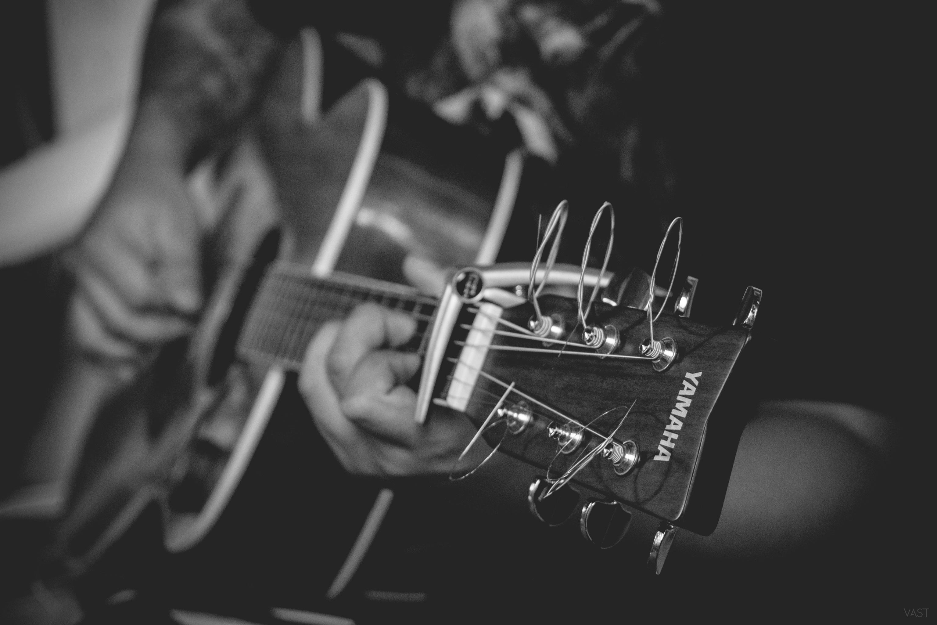 Guitar, Activity, Black, Guitarist, Human, HQ Photo